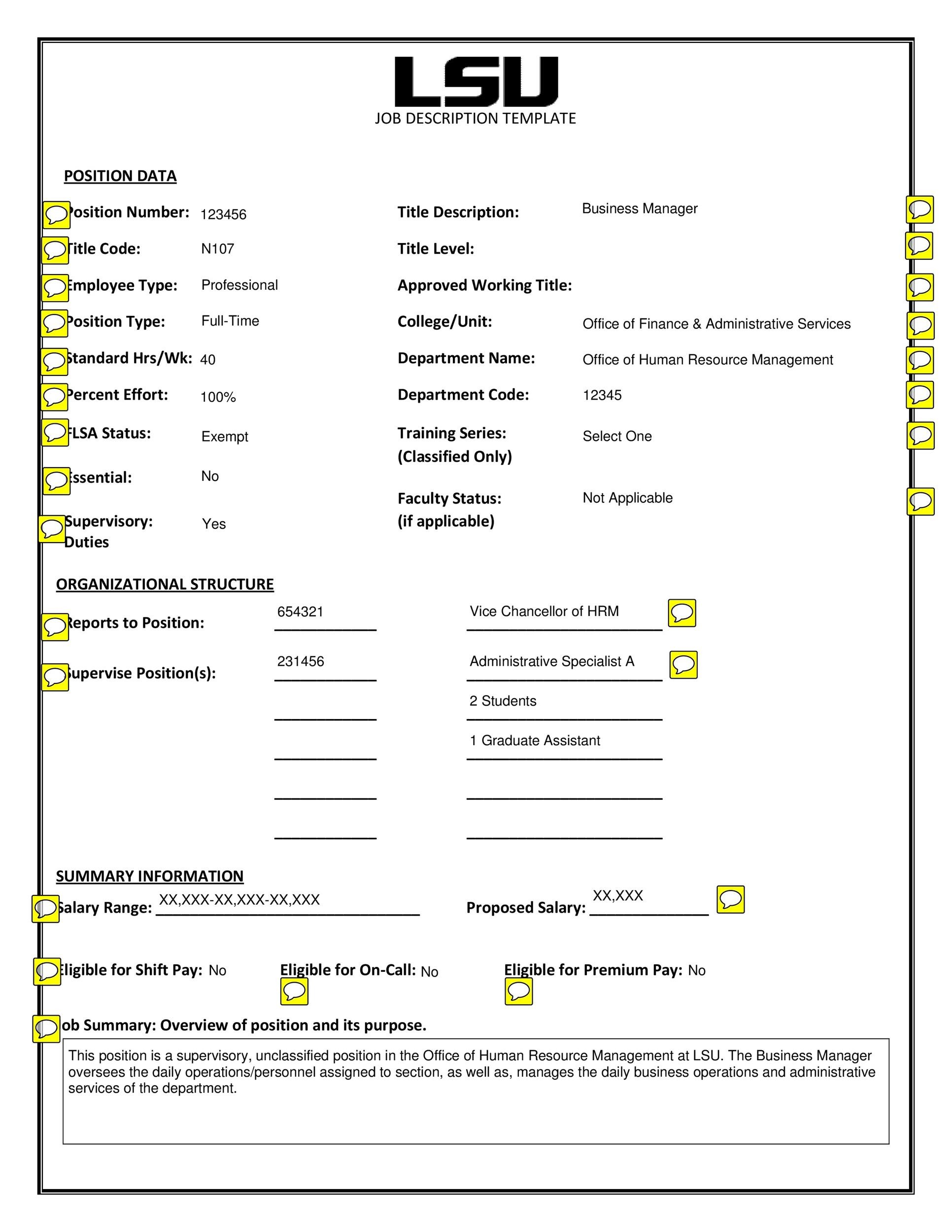 47 Job Description Templates Examples Template Lab – Job Duty Template