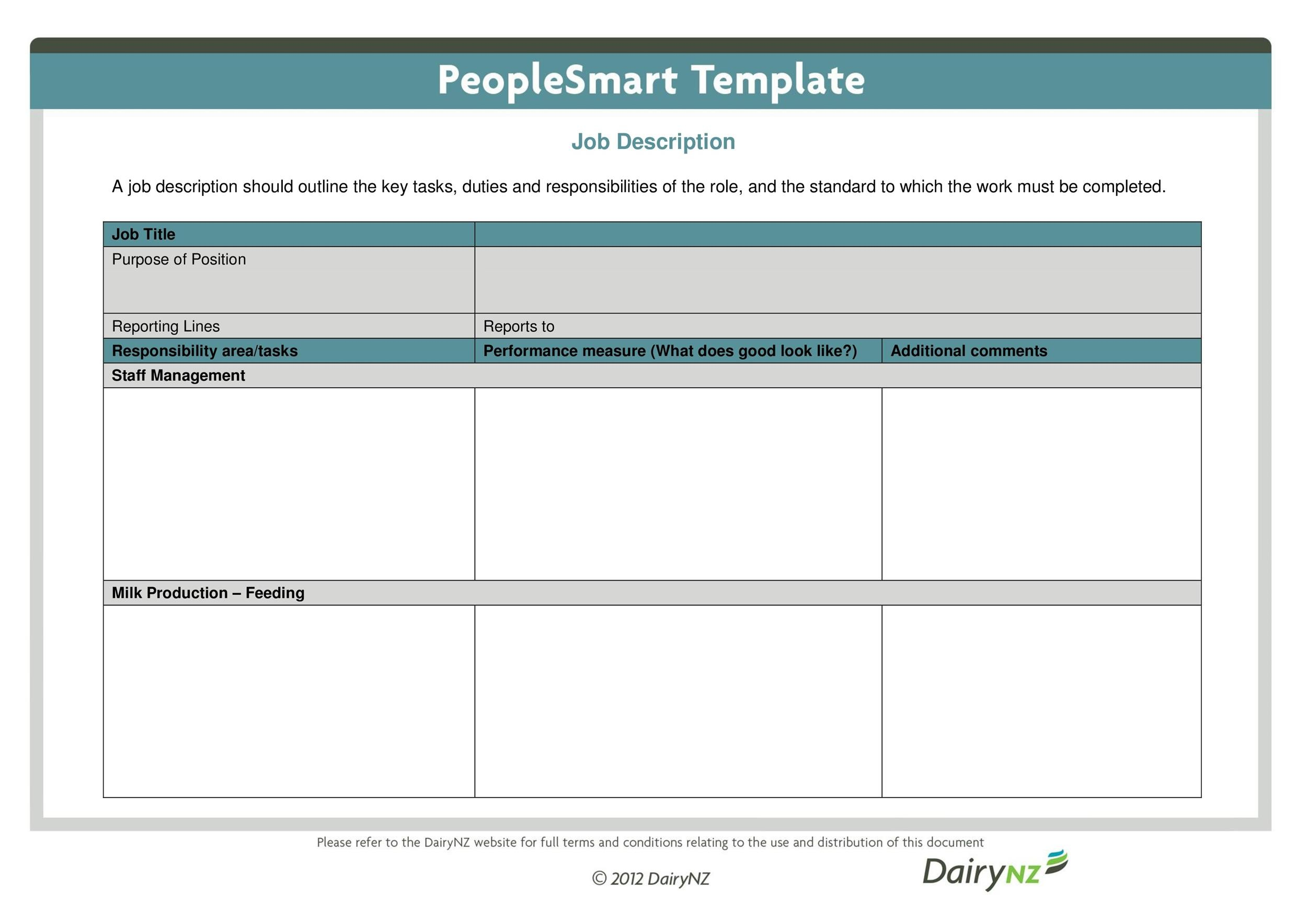 Job Description Templates  Examples  Template Lab