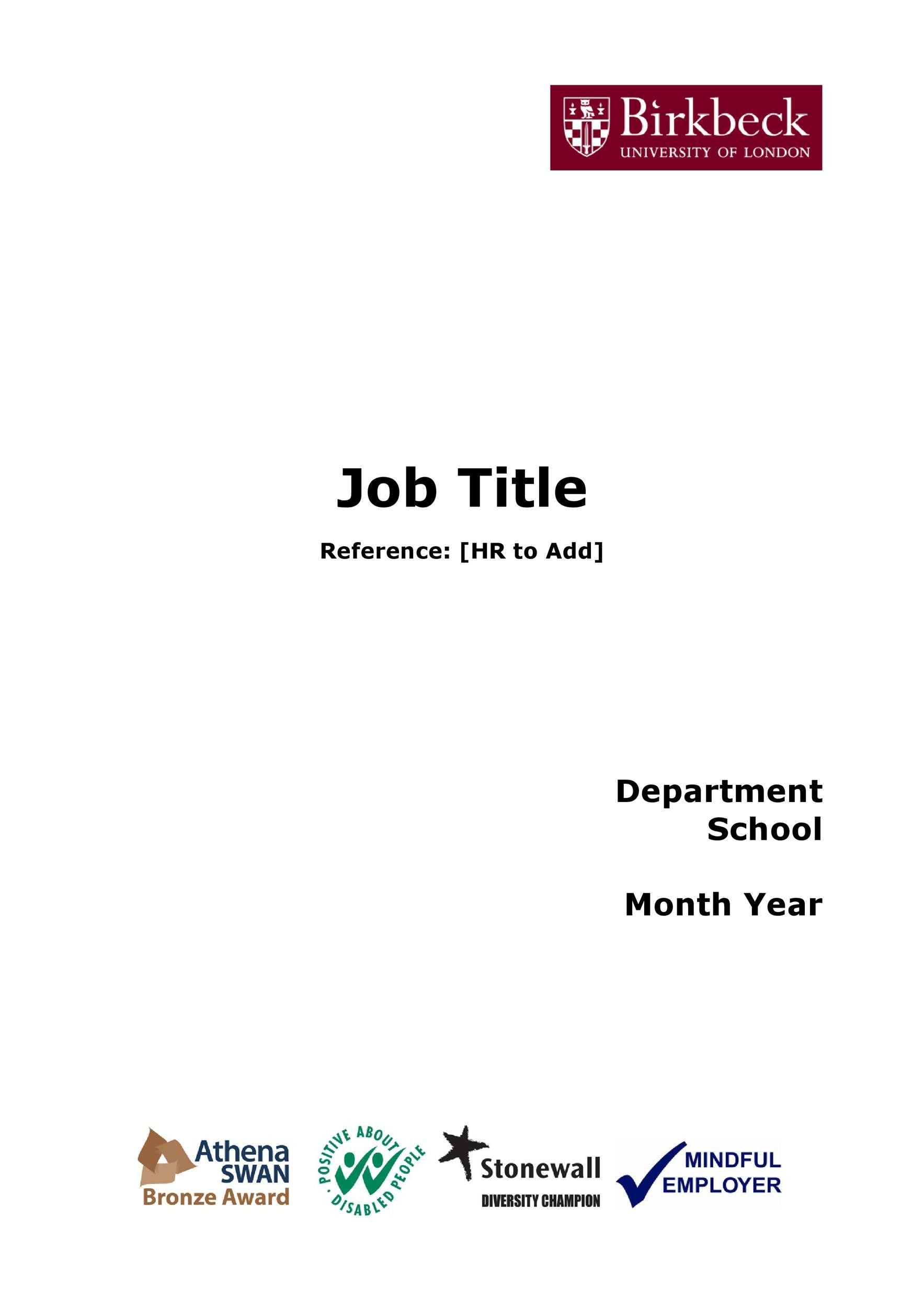 Free Job Description Template 46
