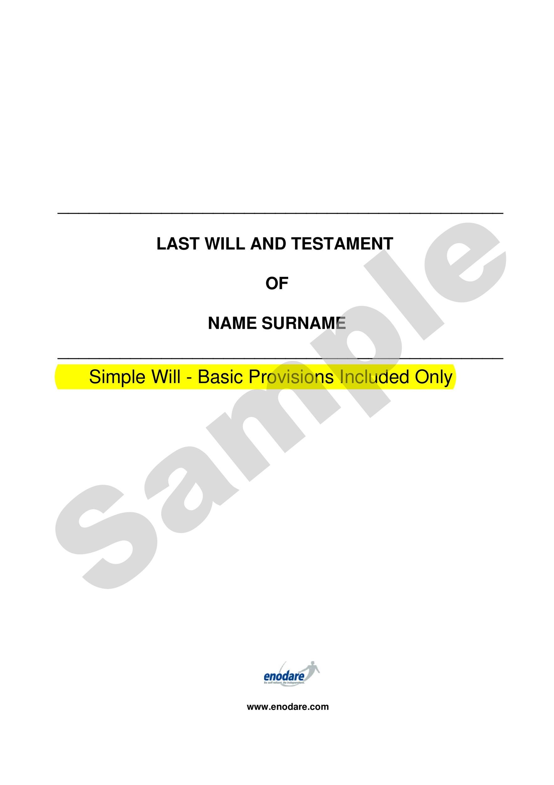 Free Last will and Testament template 25