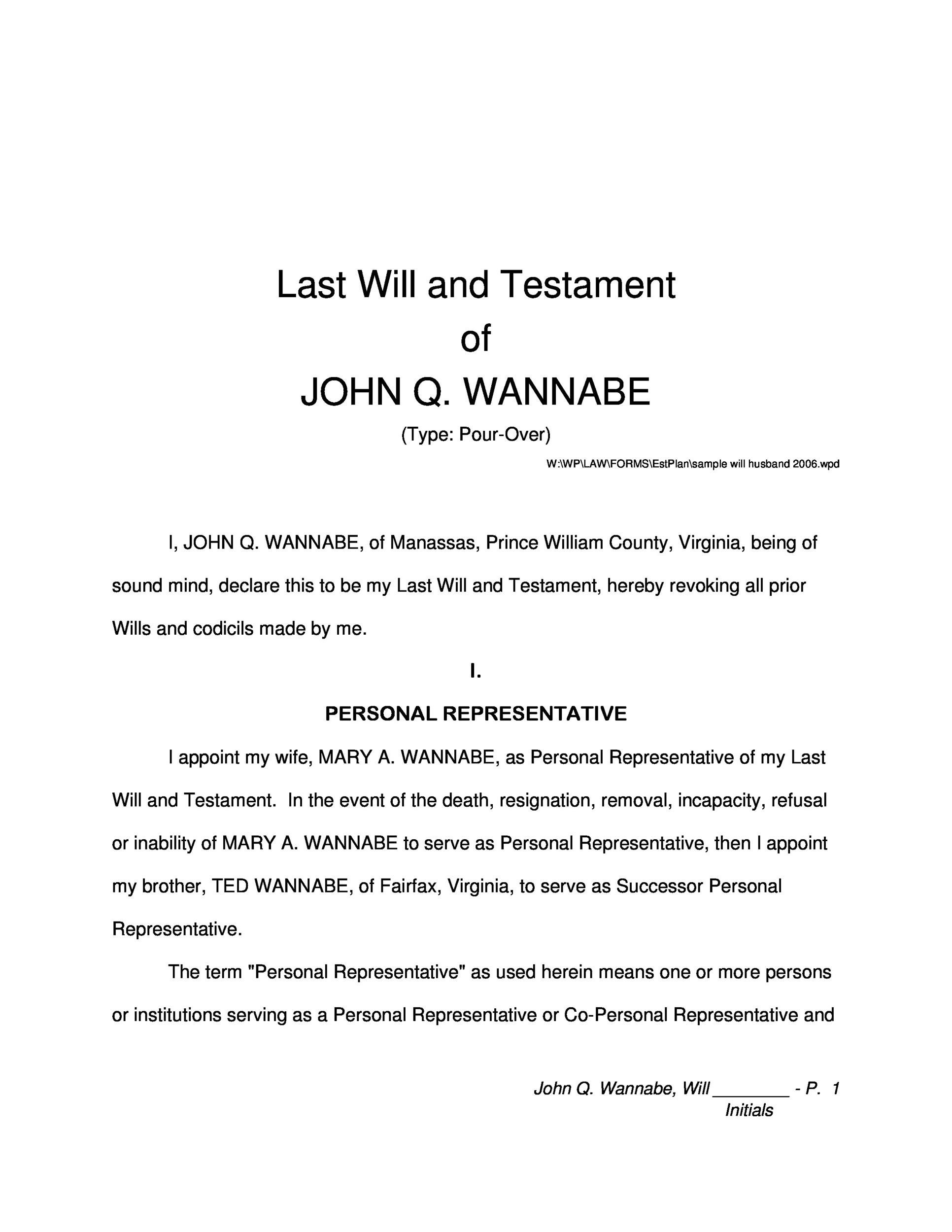 Free Last will and Testament template 30