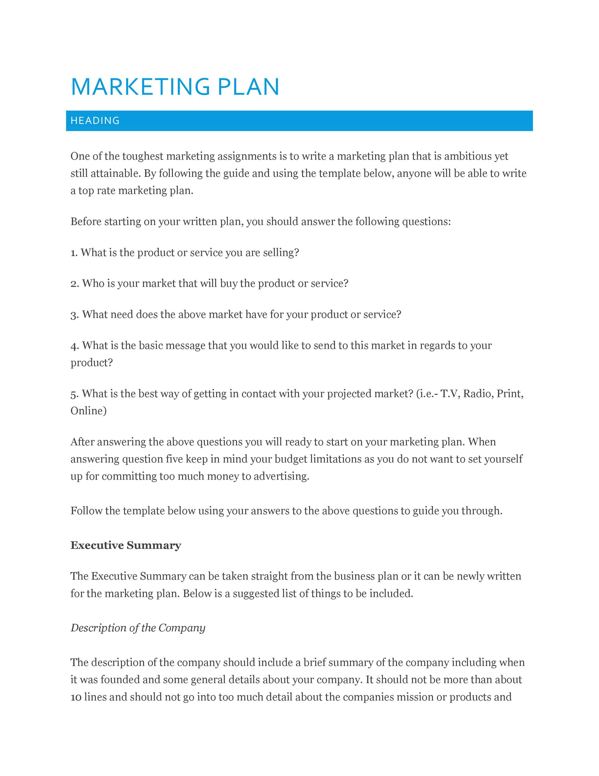Doc581824 Marketing Proposal Templates Sample Marketing – Best Proposal Templates