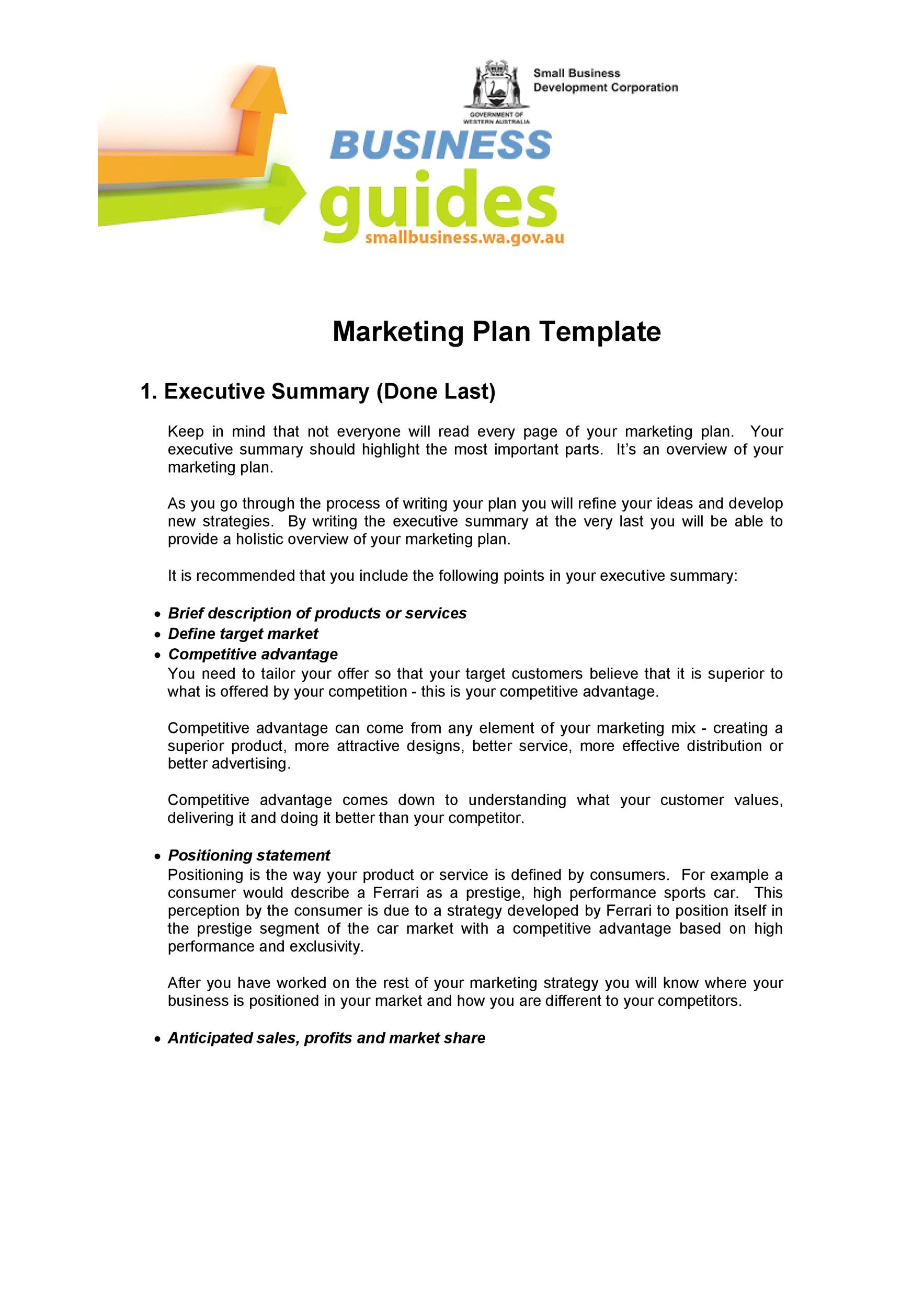 Free Marketing Plan Template 10