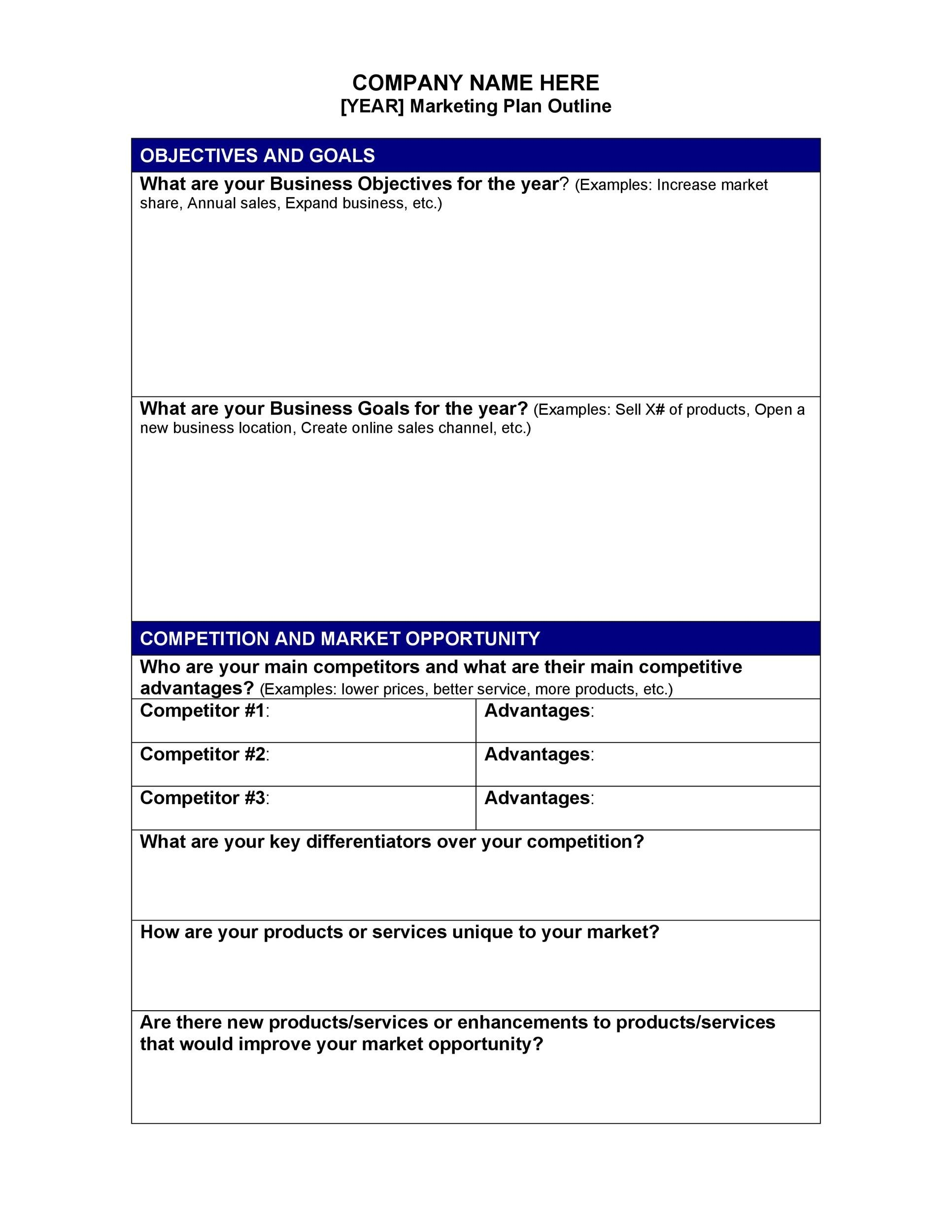 Free Marketing Plan Template 11