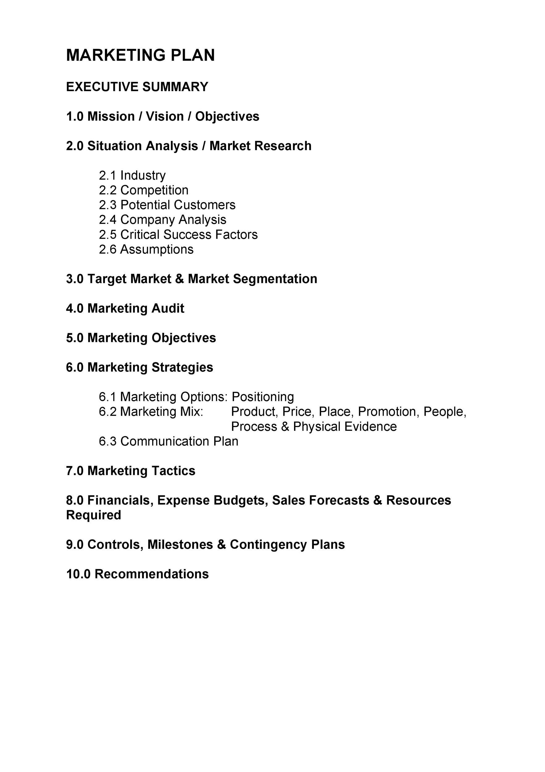 Free Marketing Plan Template 13