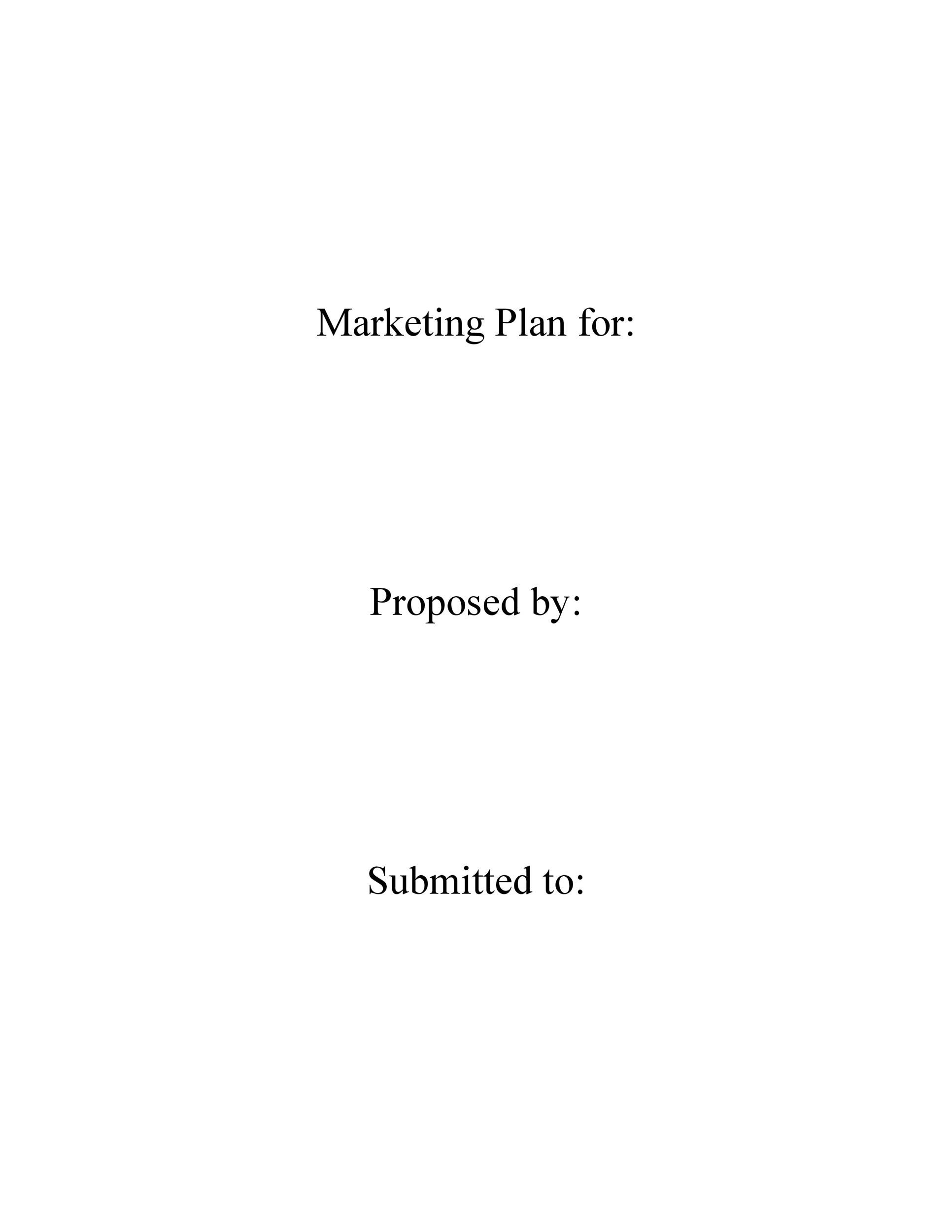 Free Marketing Plan Template 21