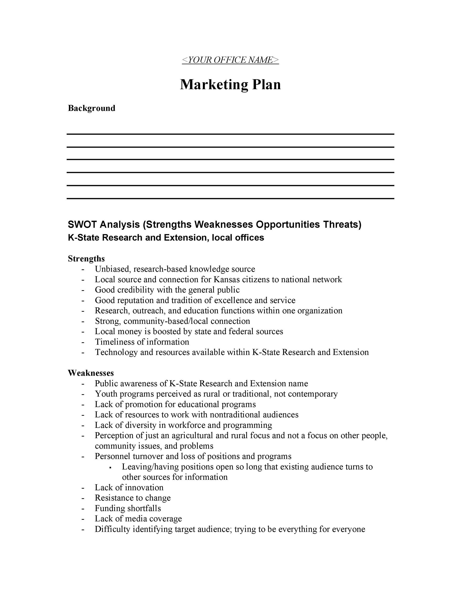 Free Marketing Plan Template 22