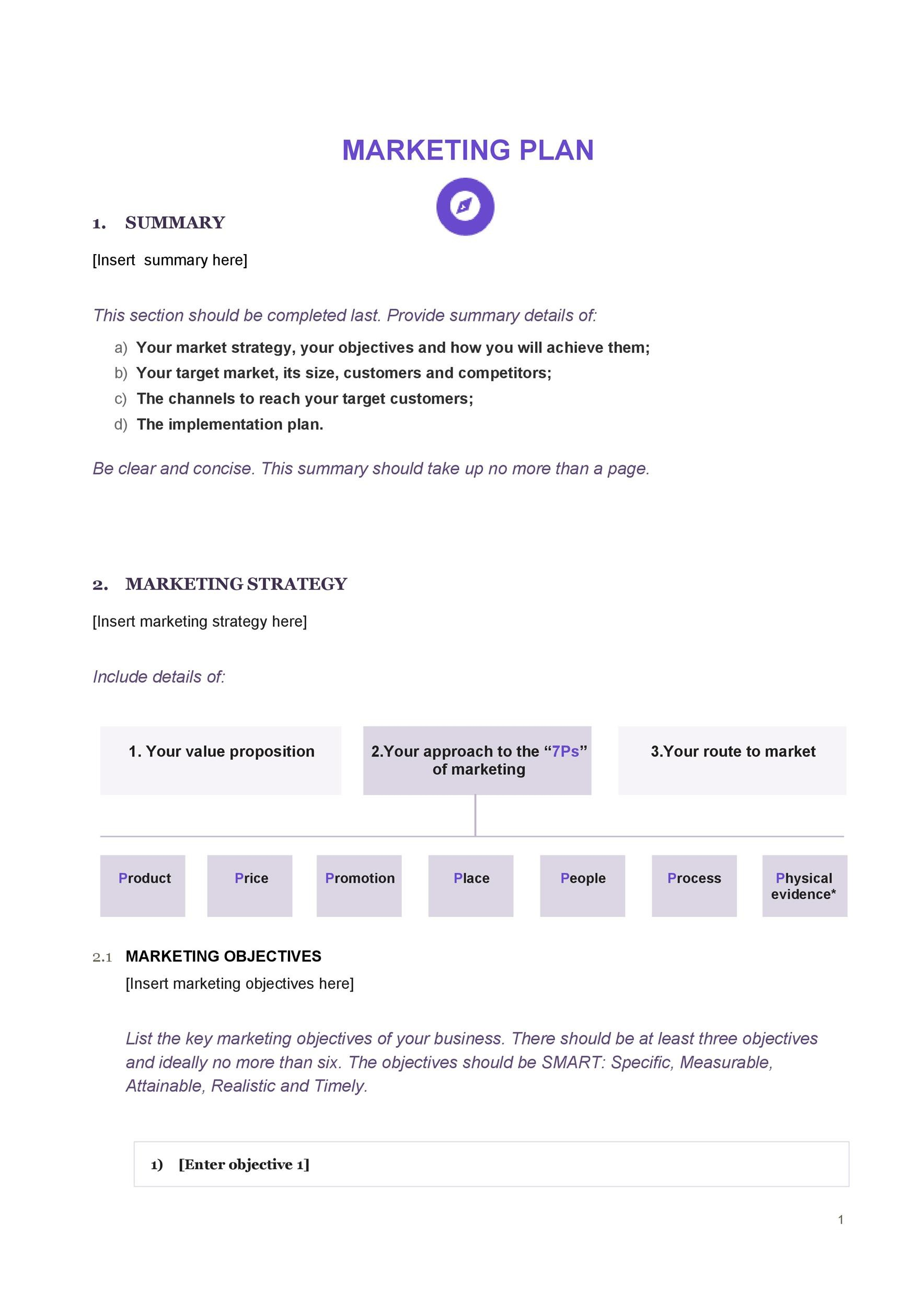 Free Marketing Plan Template 24