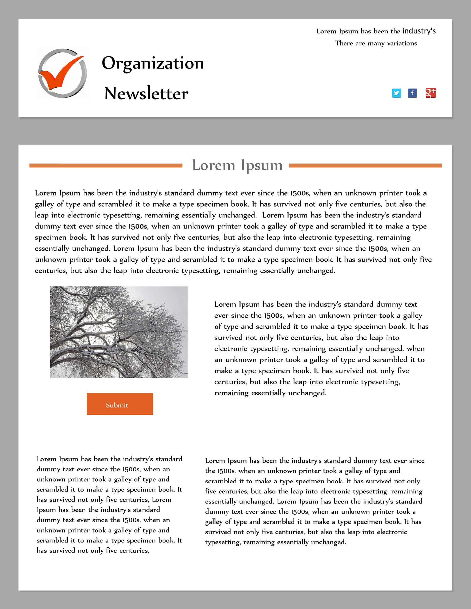 free newsletter template 01