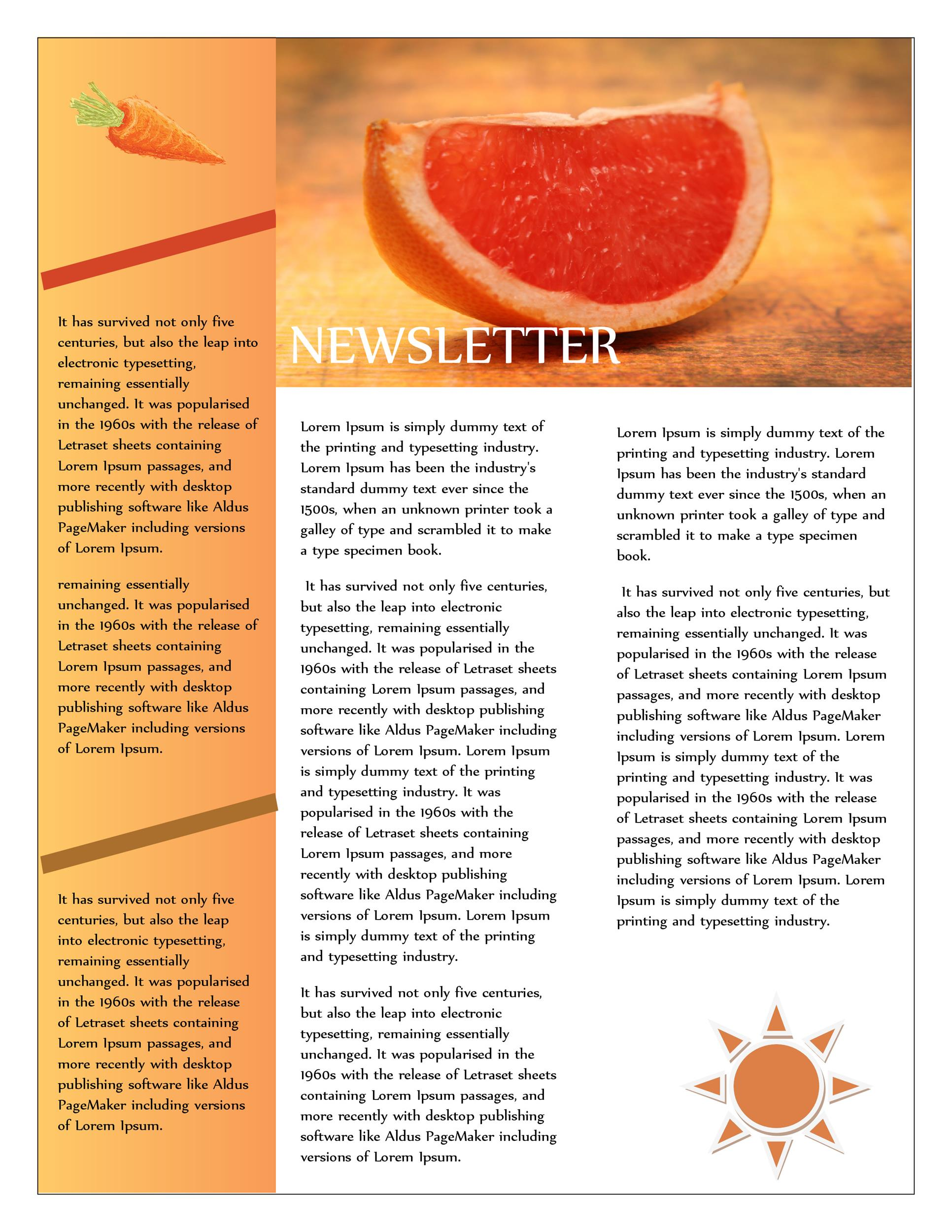 Free Newsletter Template 09