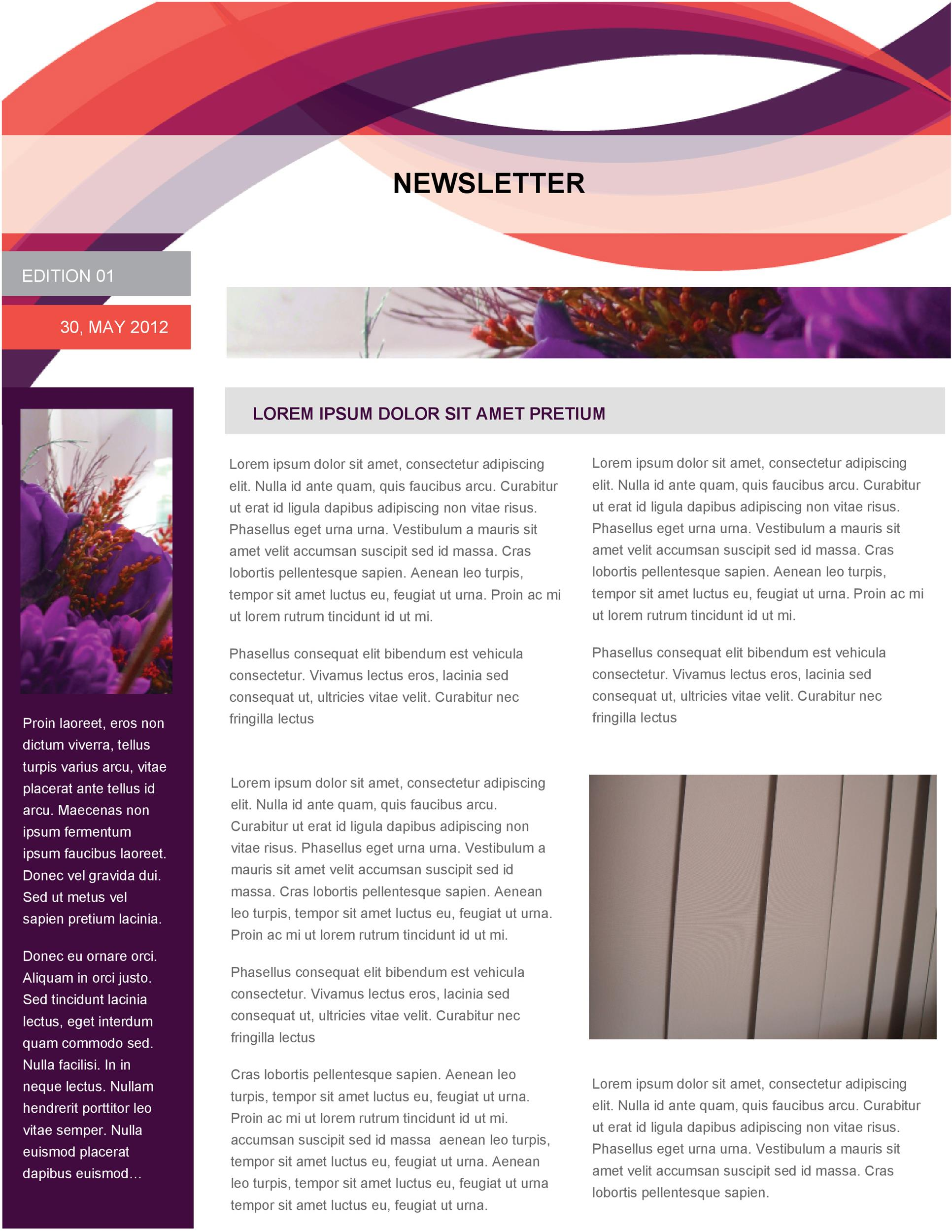 graphic relating to Printable Newsletter Templates Free called 50 Absolutely free Publication Templates for Do the job, College and Clroom