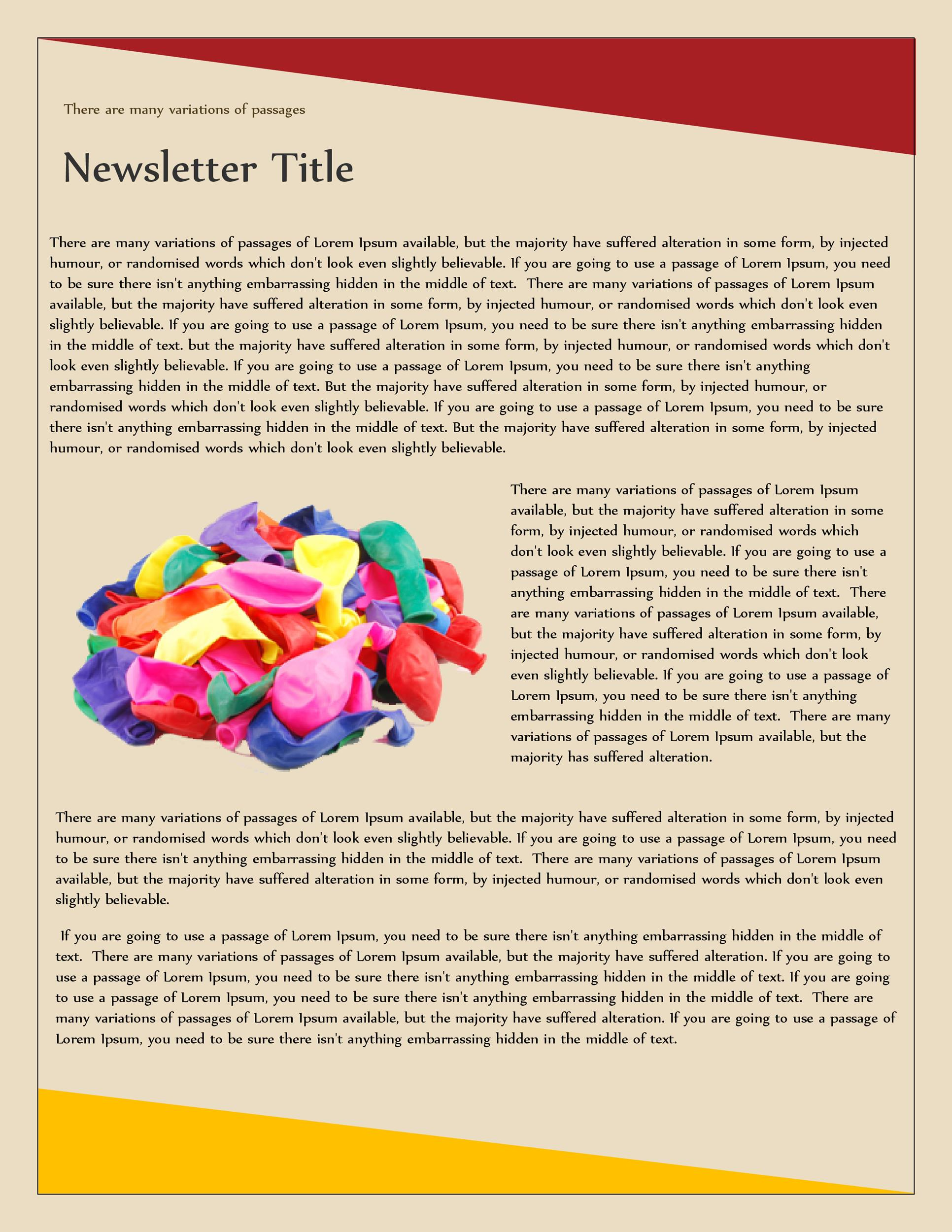 Free Newsletter Template 13