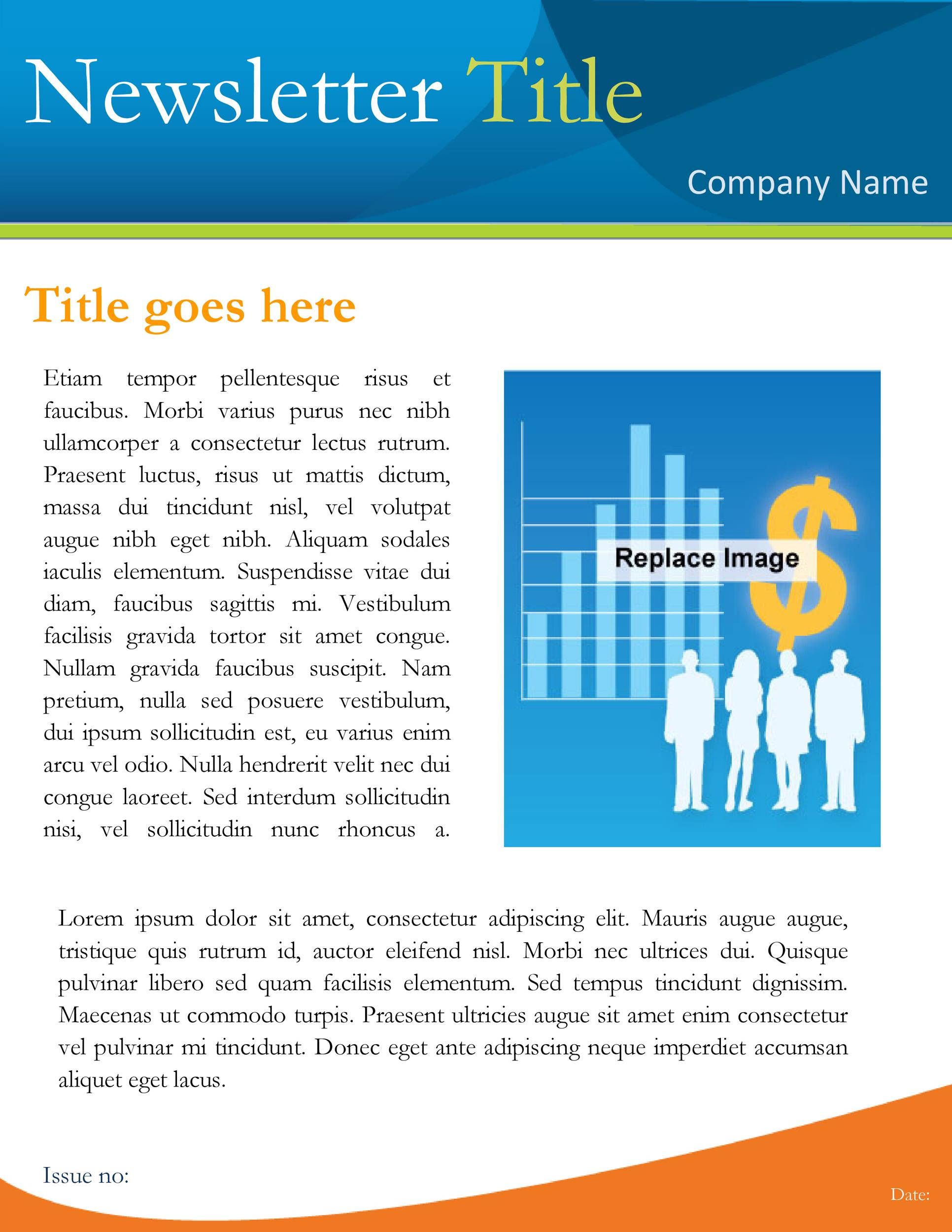 Free Newsletter Template 16