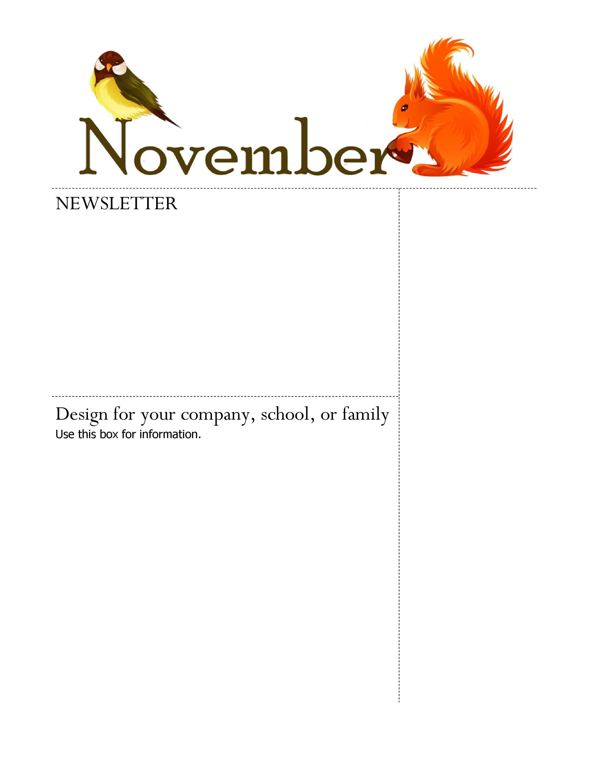 Free Newsletter Template 23