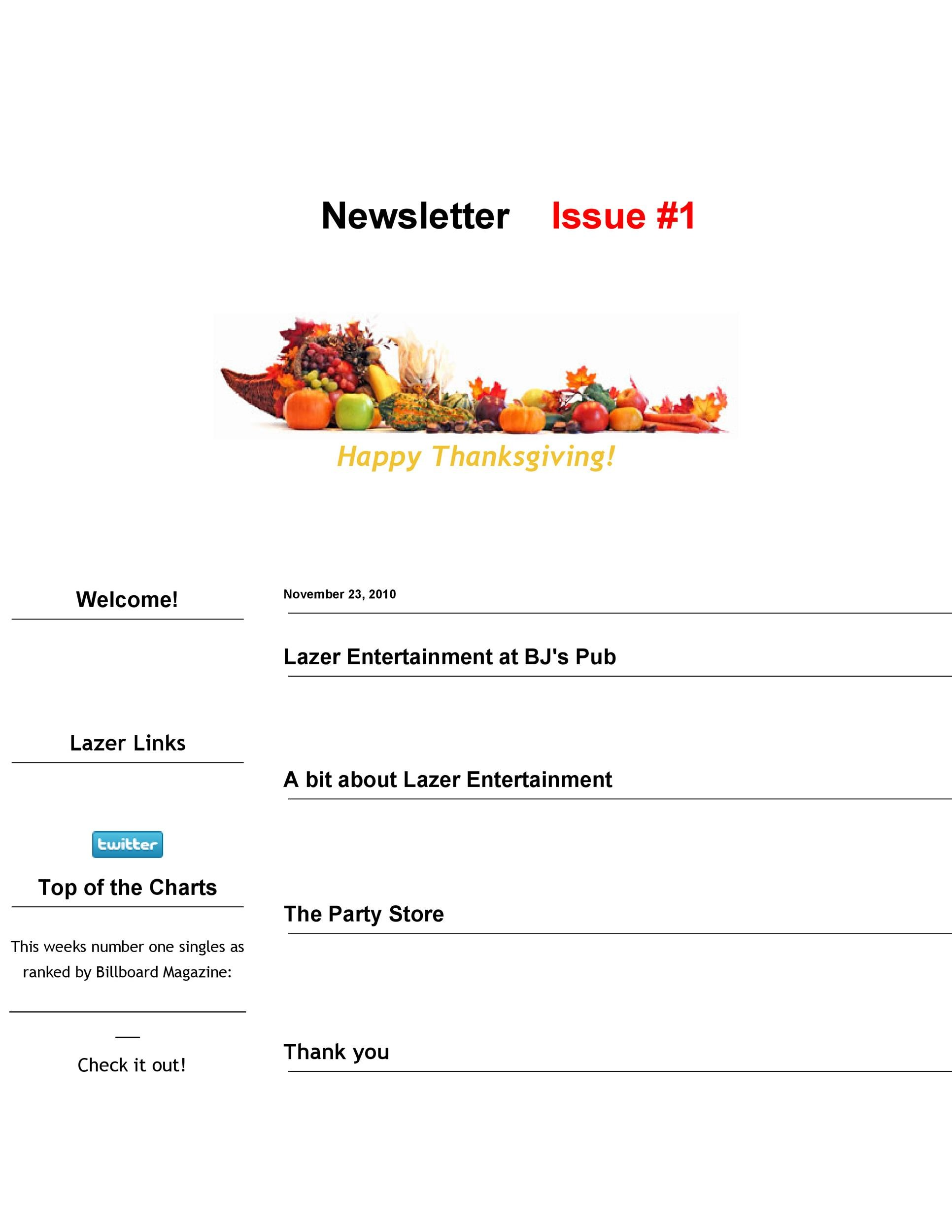 Free Newsletter Template 27