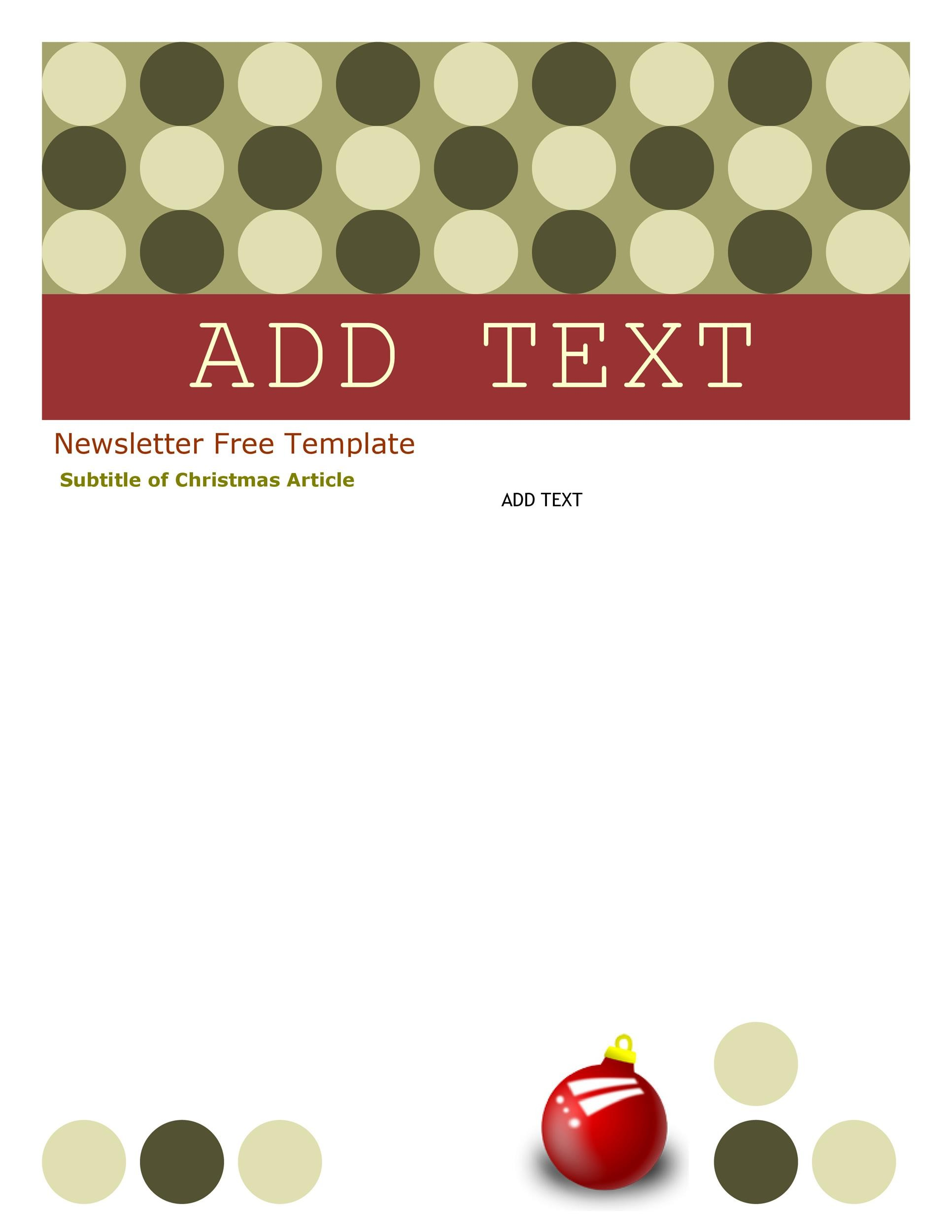 Free Newsletter Templates For Work School And Classroom