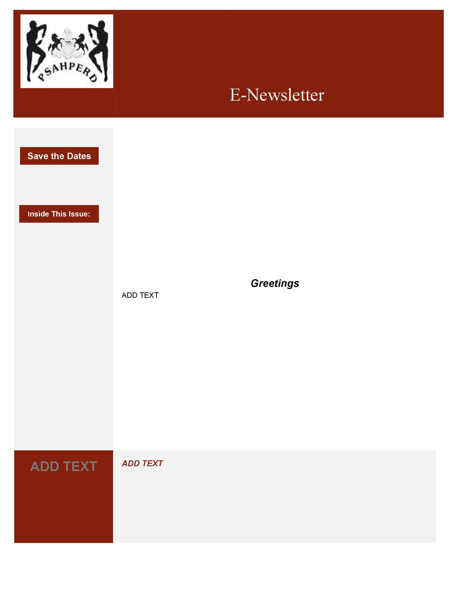 Free Newsletter Template 42