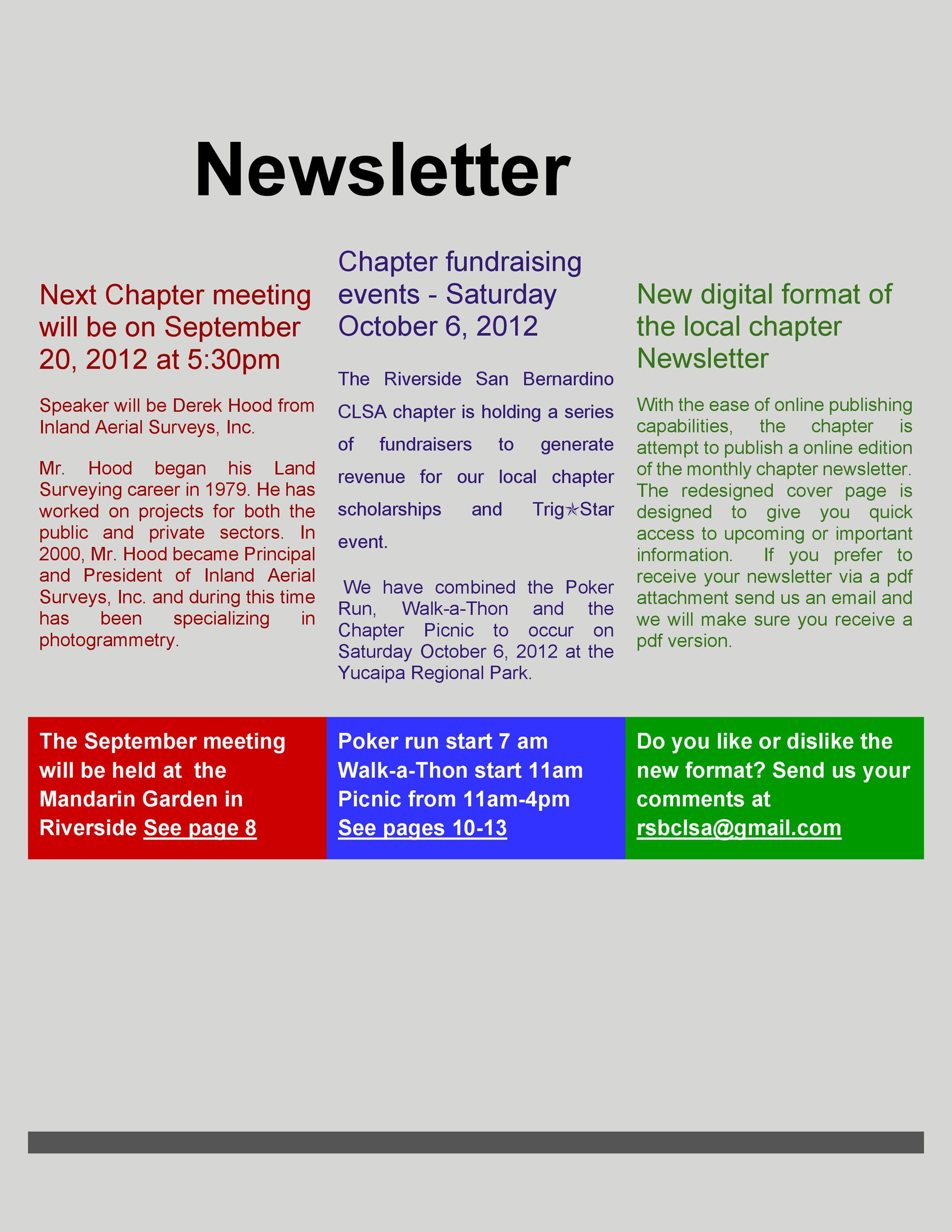 Free Newsletter Template 46