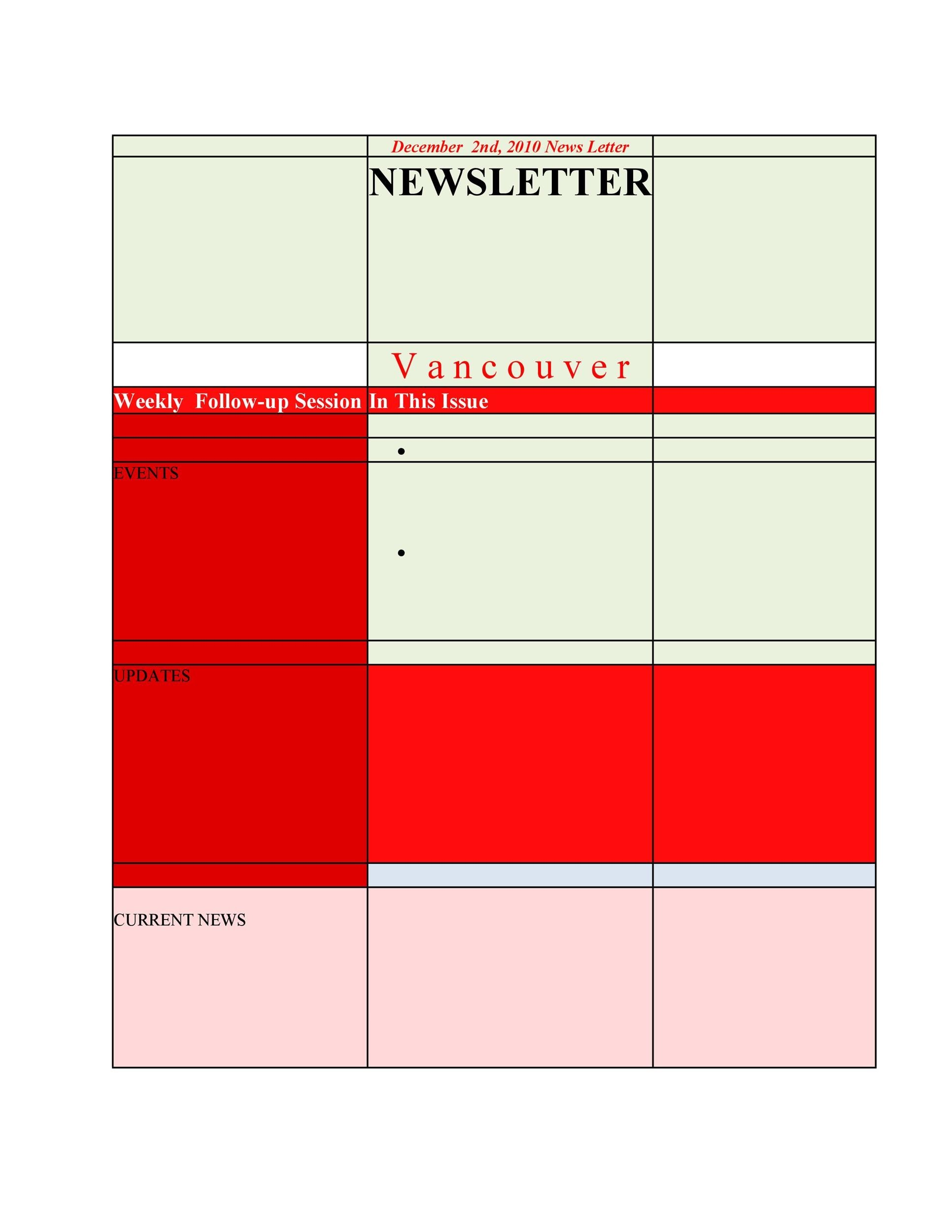 Free Newsletter Template 47