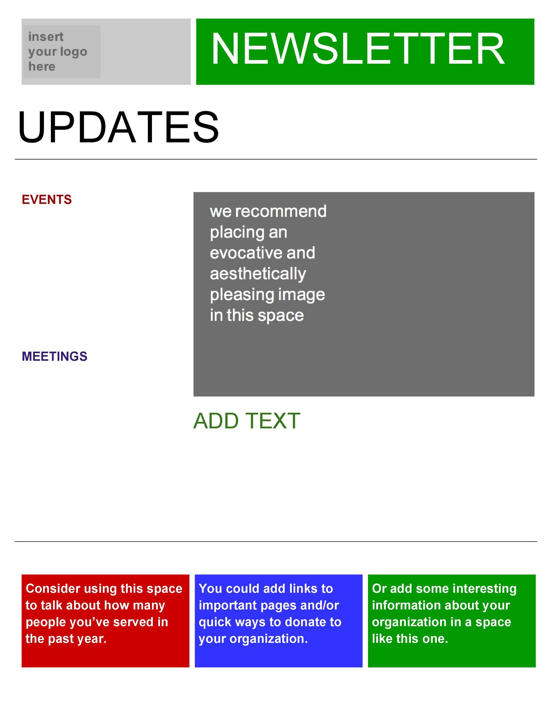 Free Newsletter Template 49