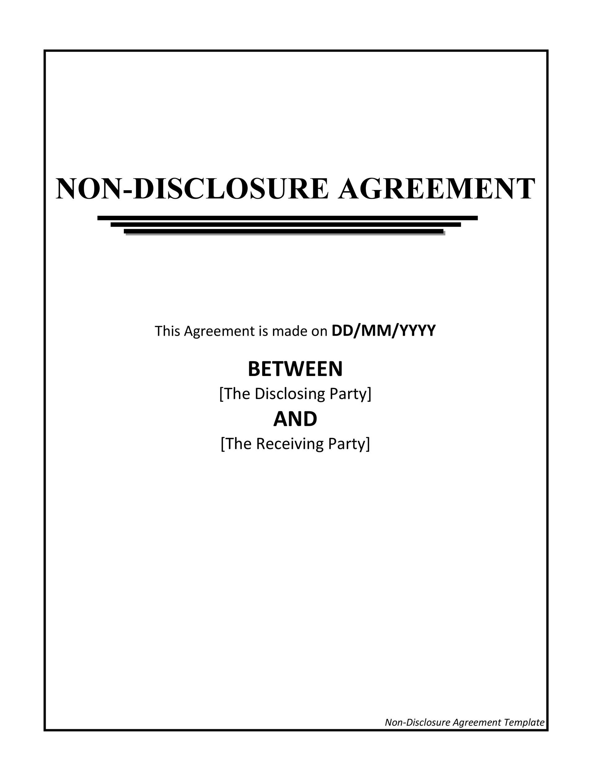 Free Non Disclosure Agreement Template 10