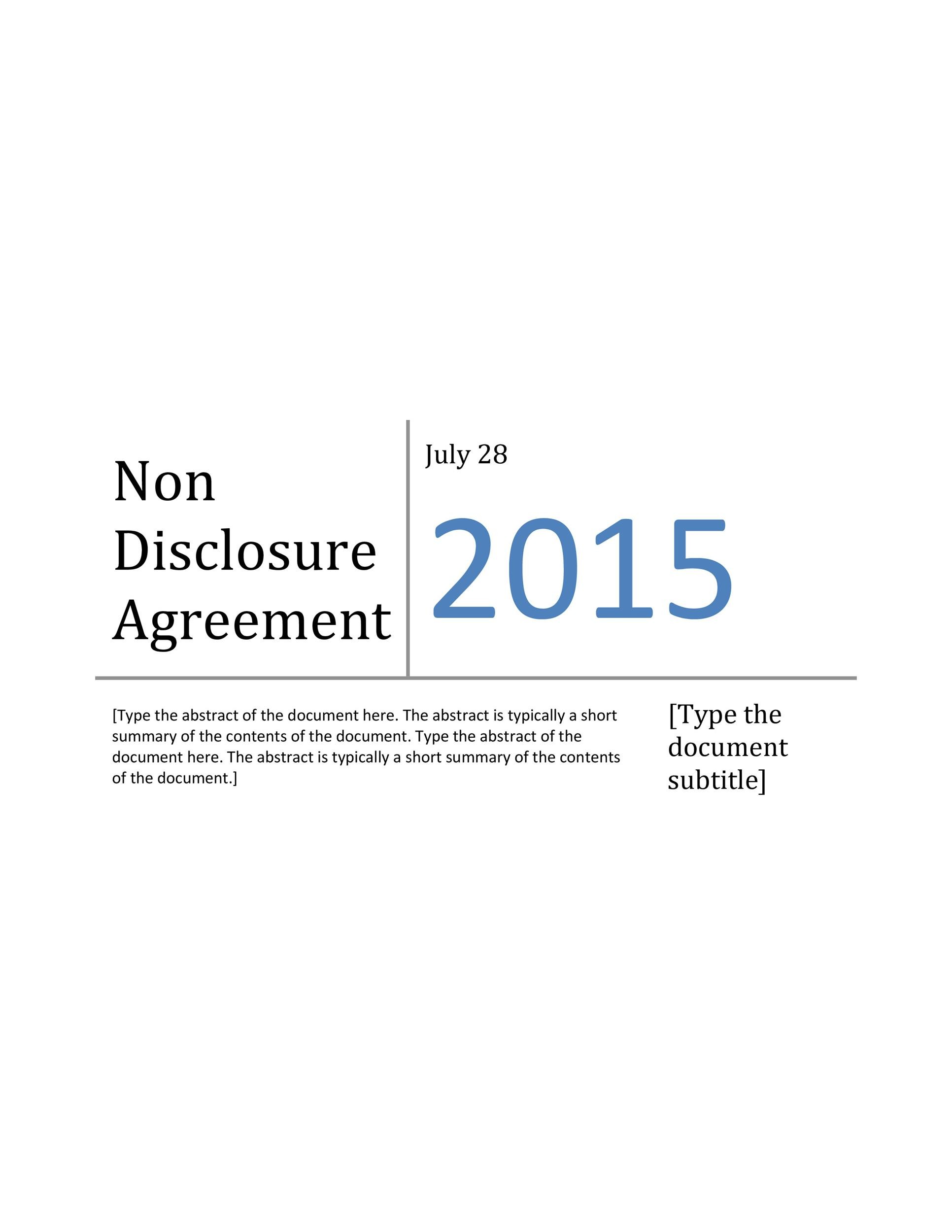 Free Non Disclosure Agreement Template 21