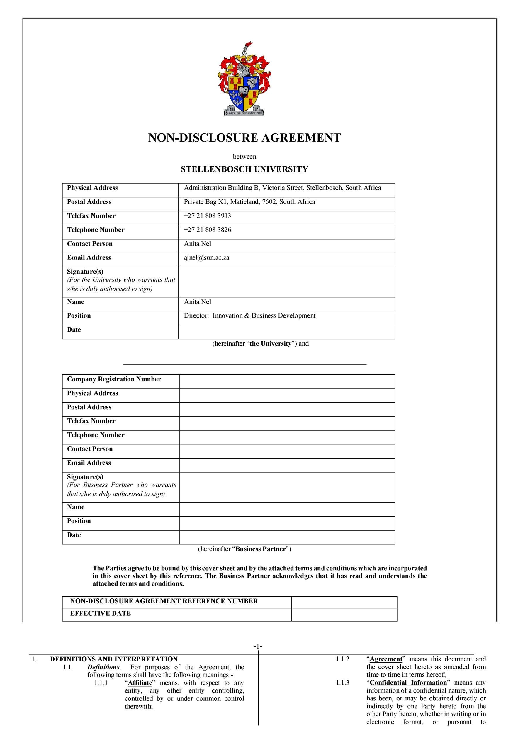 Free Non Disclosure Agreement Template 28