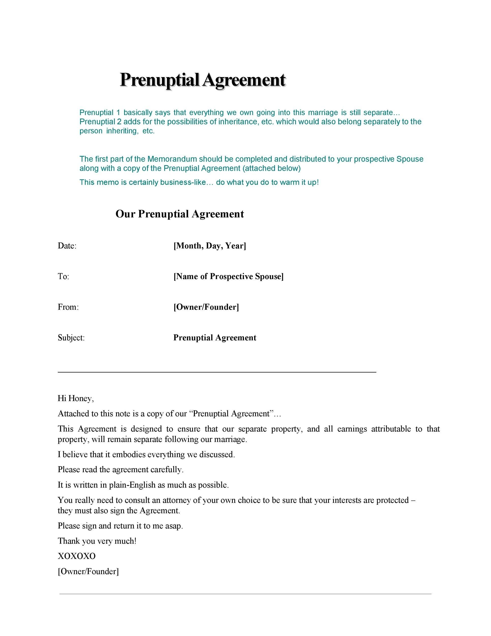 Free Prenuptial Agreement Template 04
