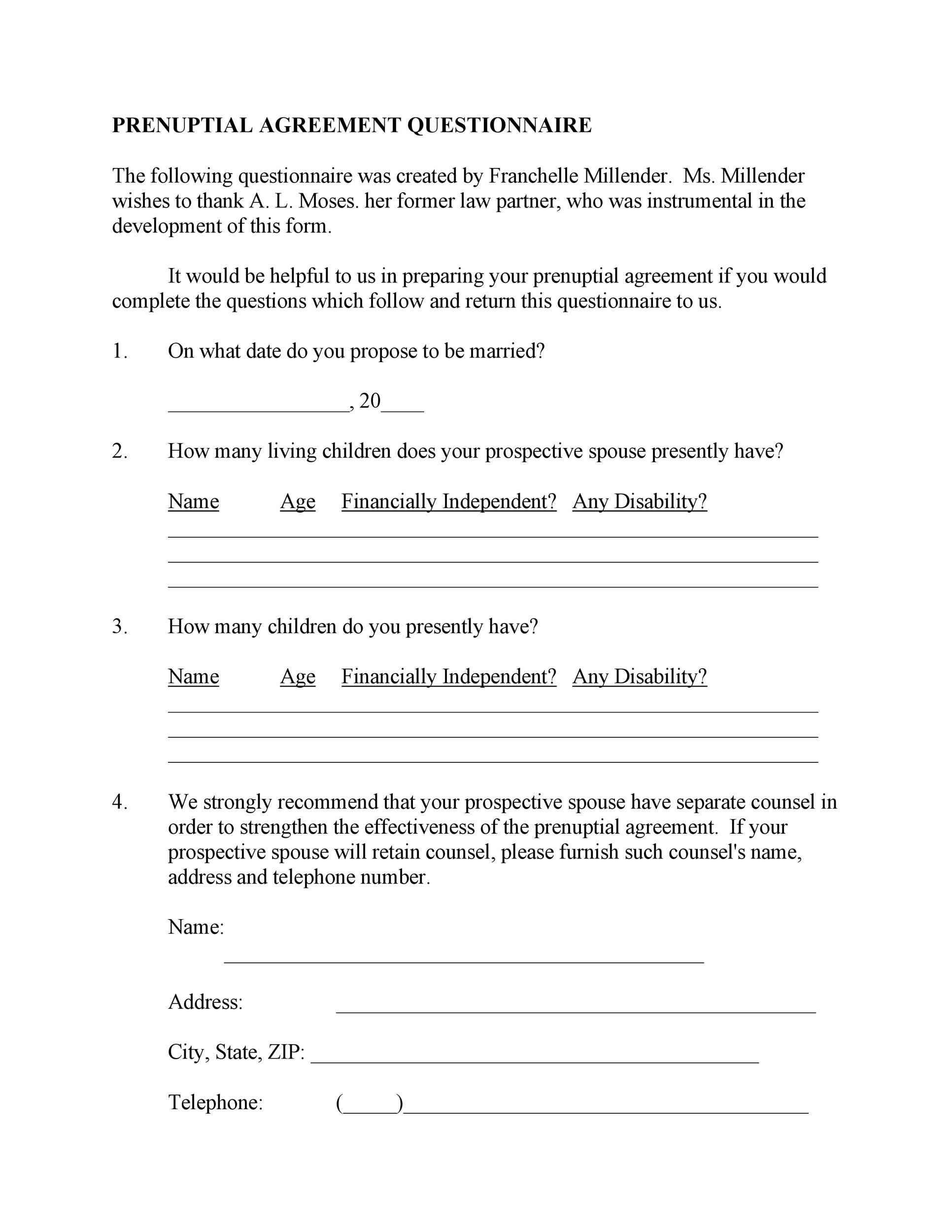 Free Prenuptial Agreement Template 07