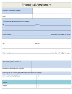 Prenuptial Agreement Template 14