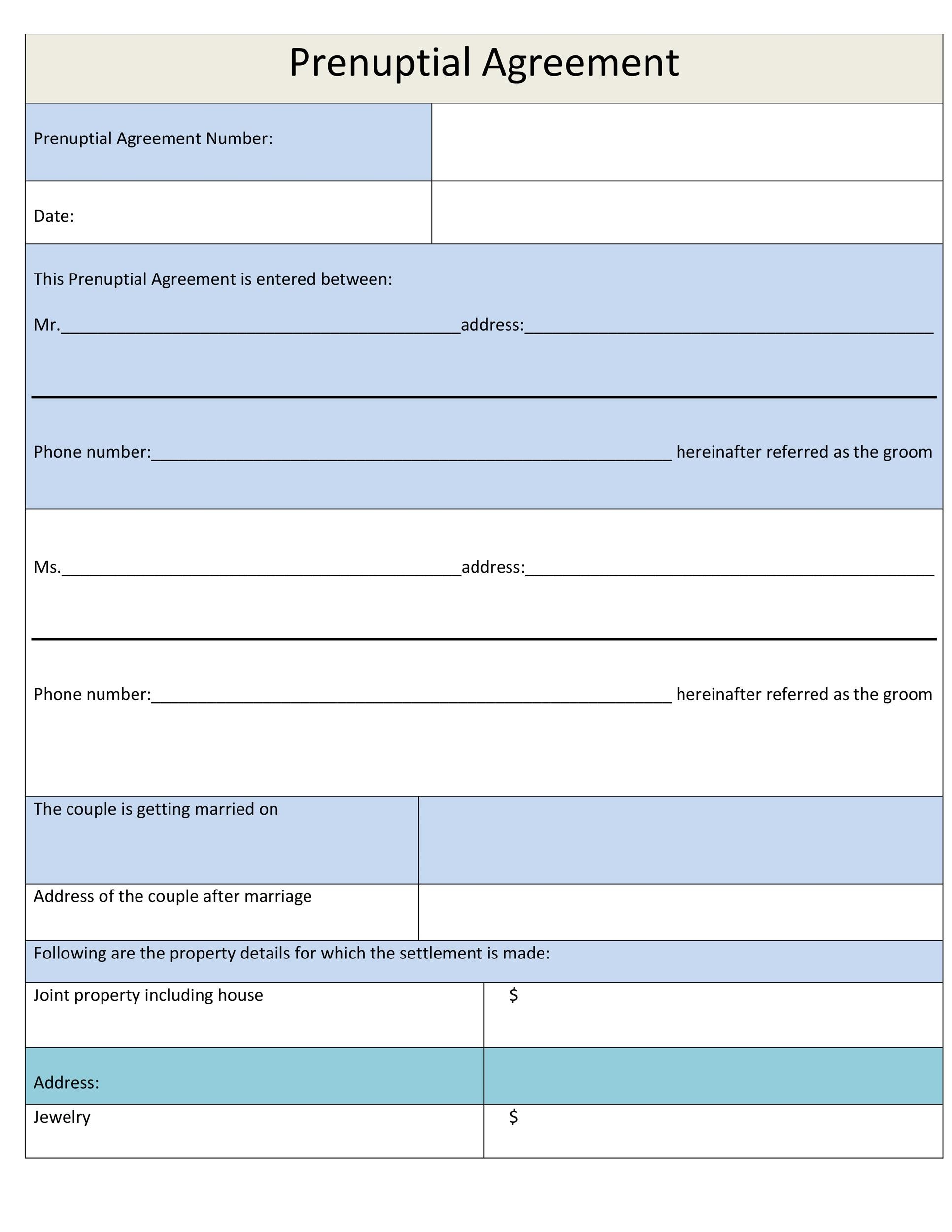 Free Prenuptial Agreement Template 14