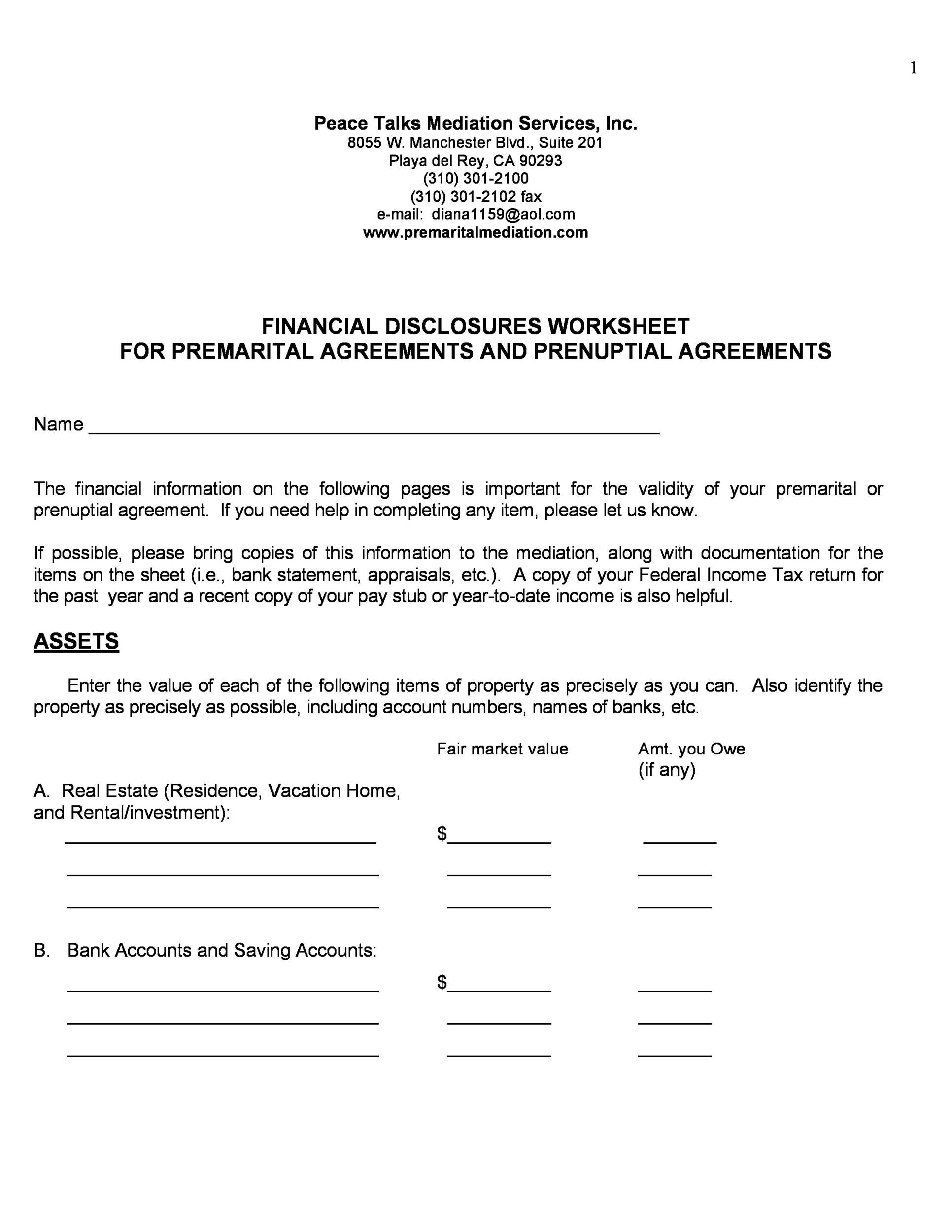Free Prenuptial Agreement Template 15