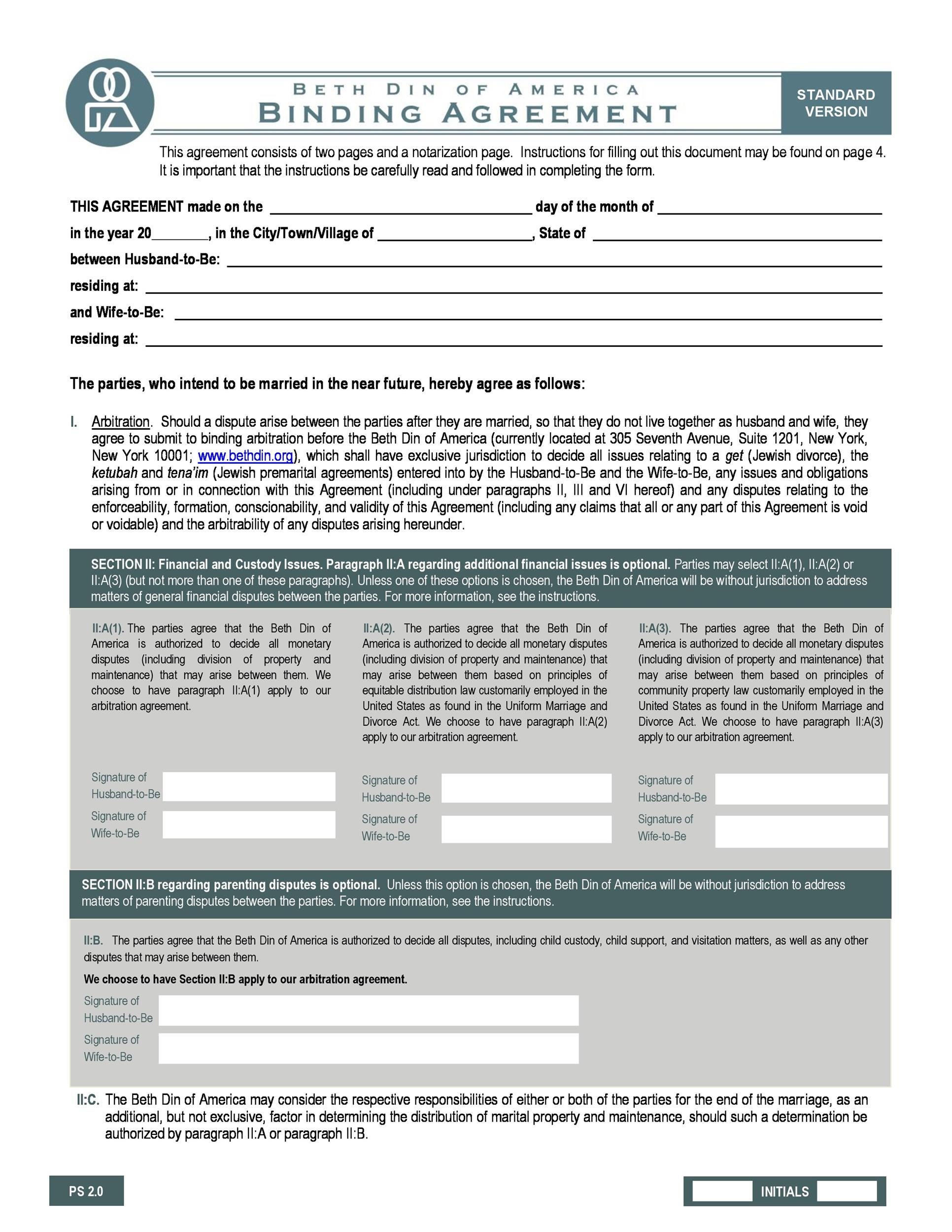 Free Prenuptial Agreement Template 19