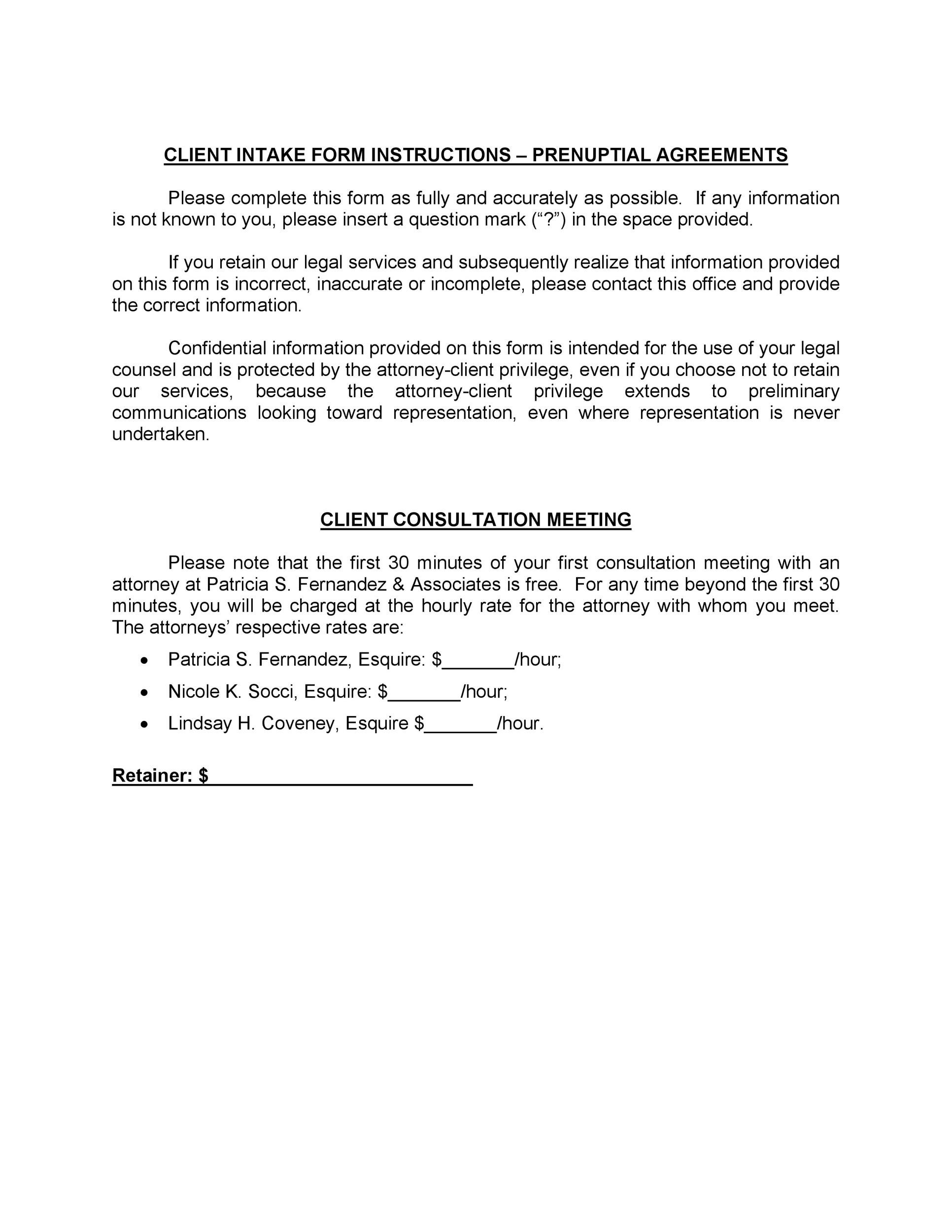 Free Prenuptial Agreement Template 21