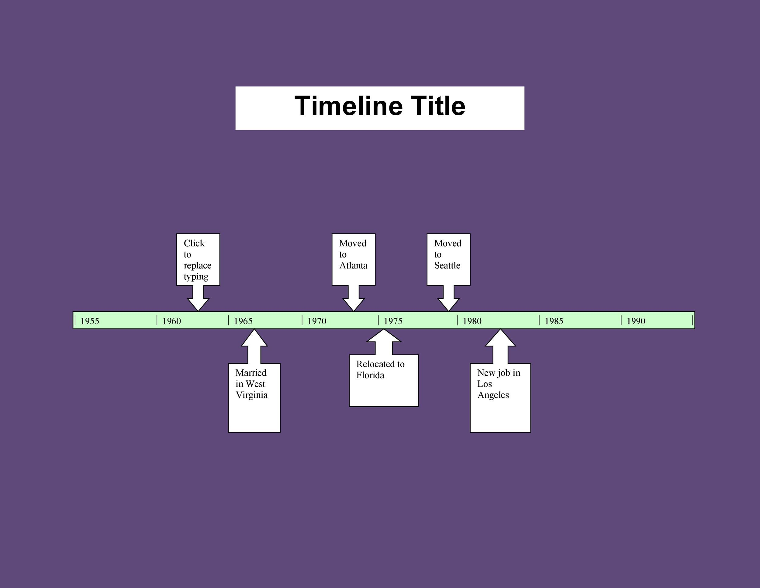 Free Timeline Template 01