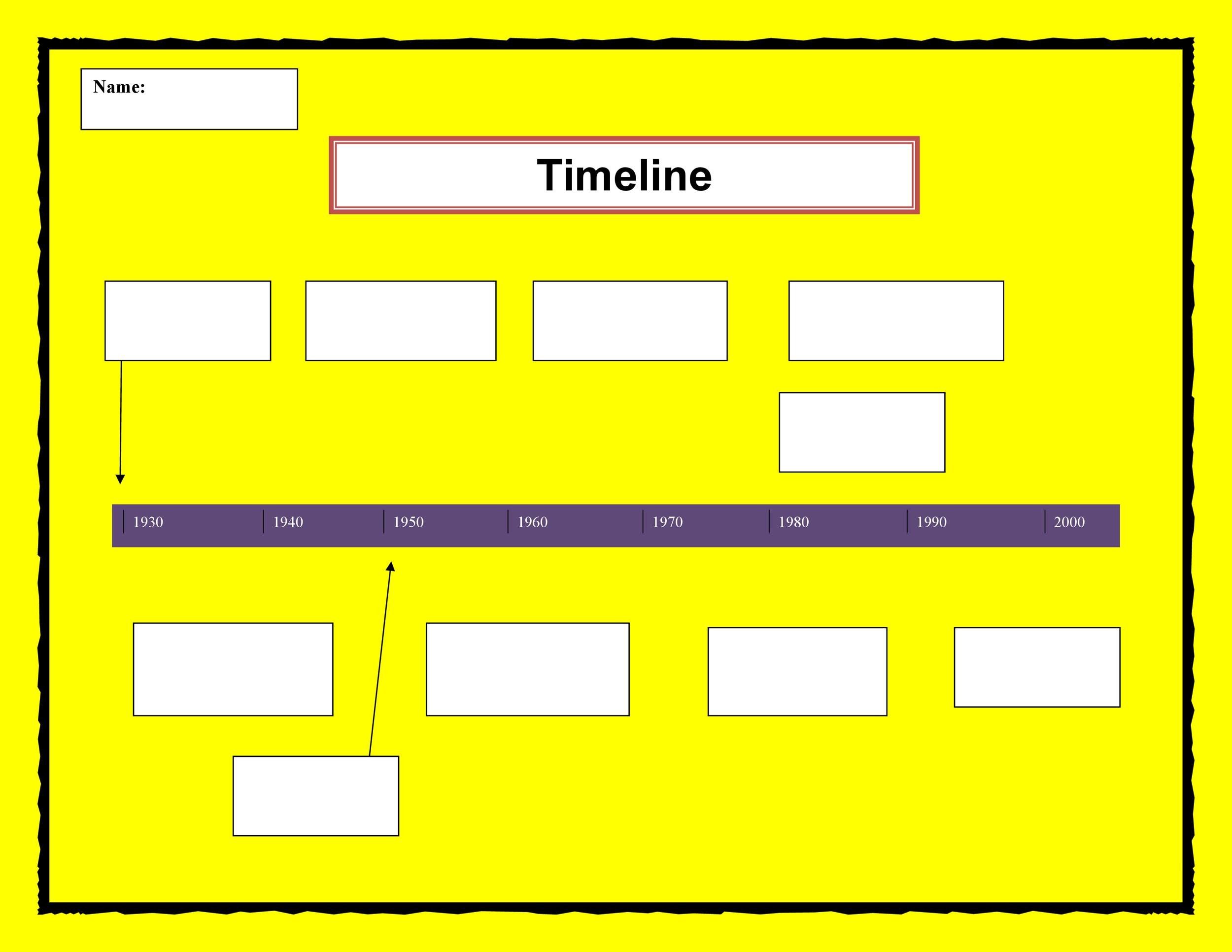 timeline outline template