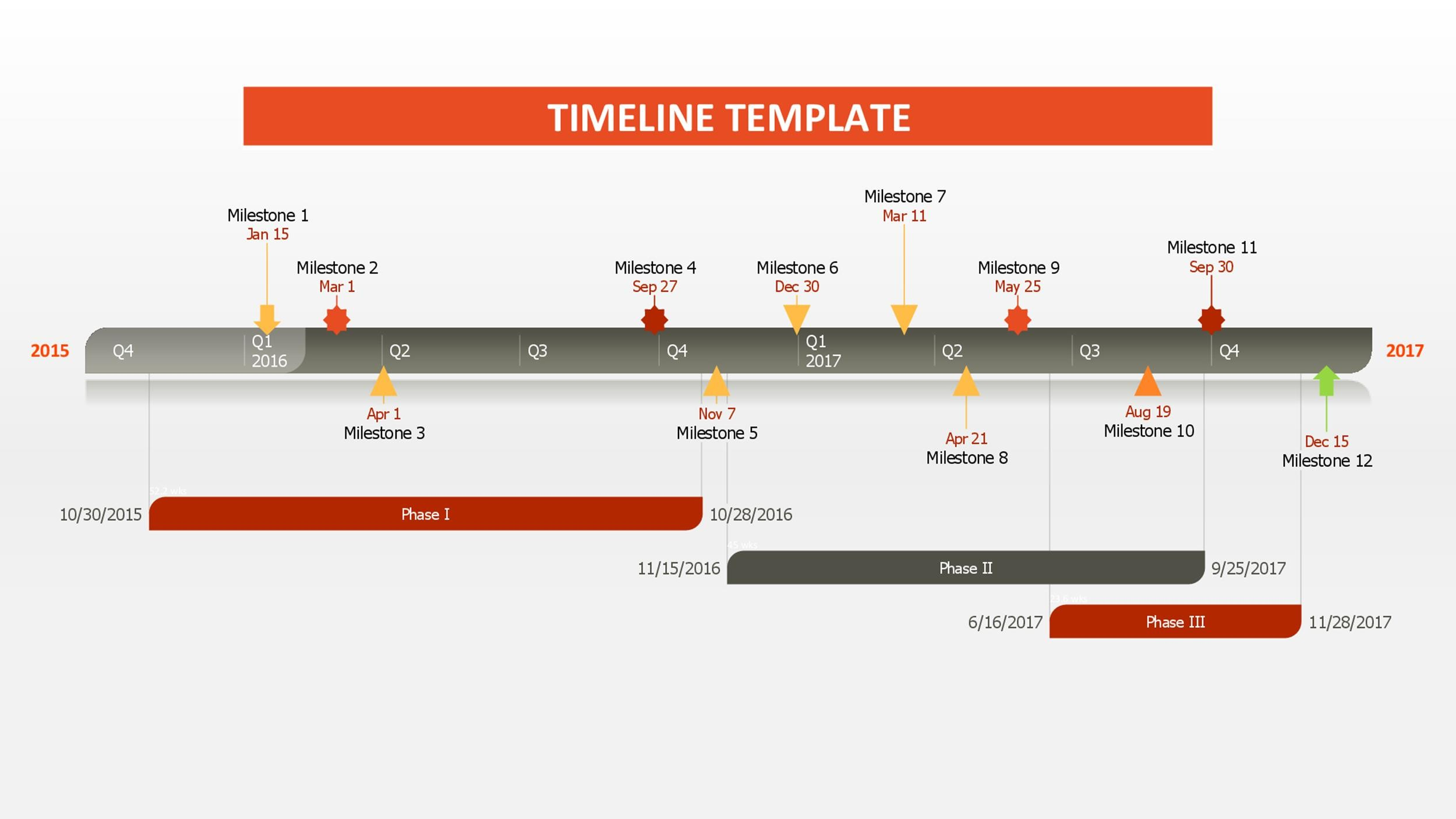 timeline in word template