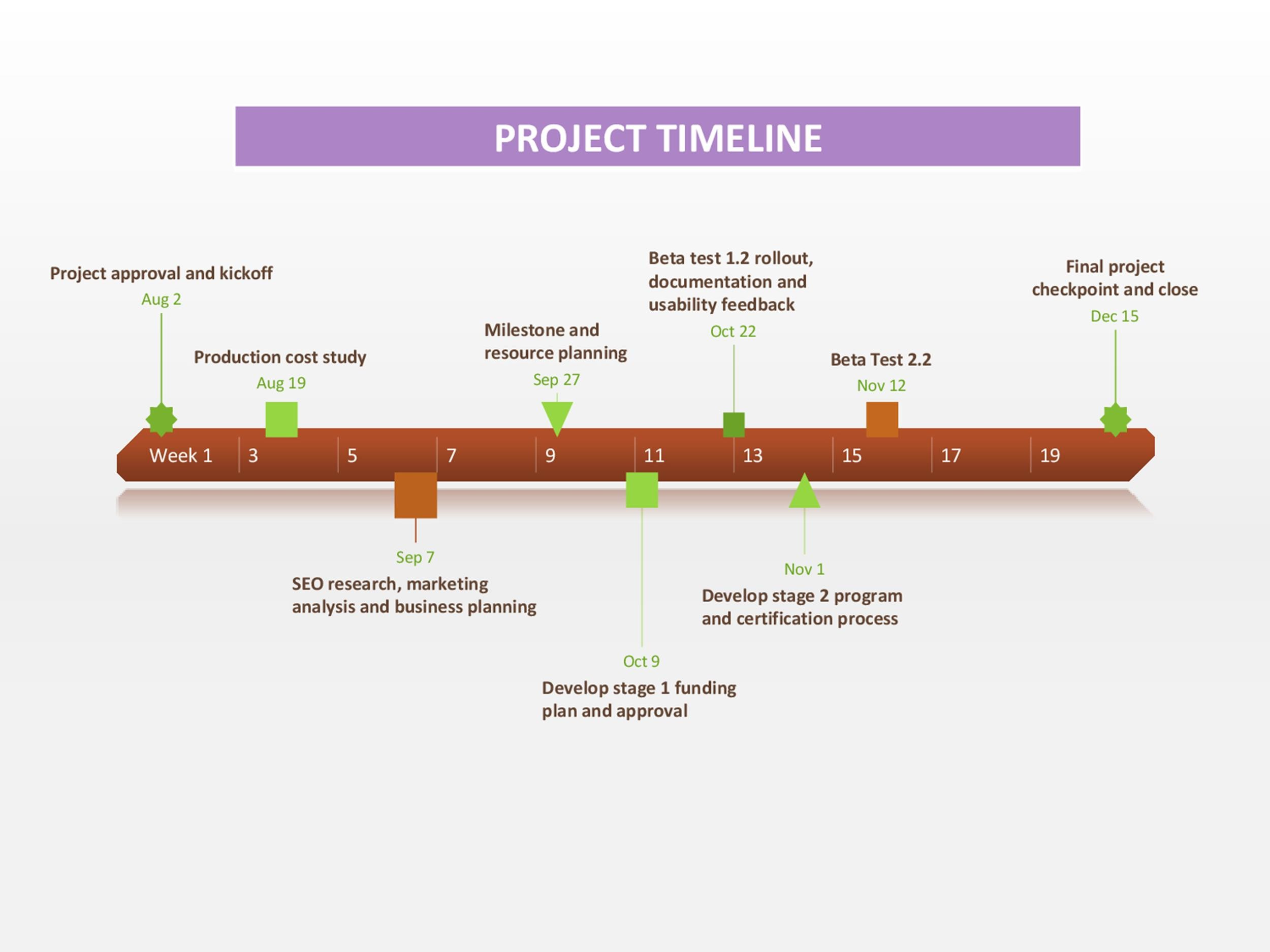 Free Timeline Template 04