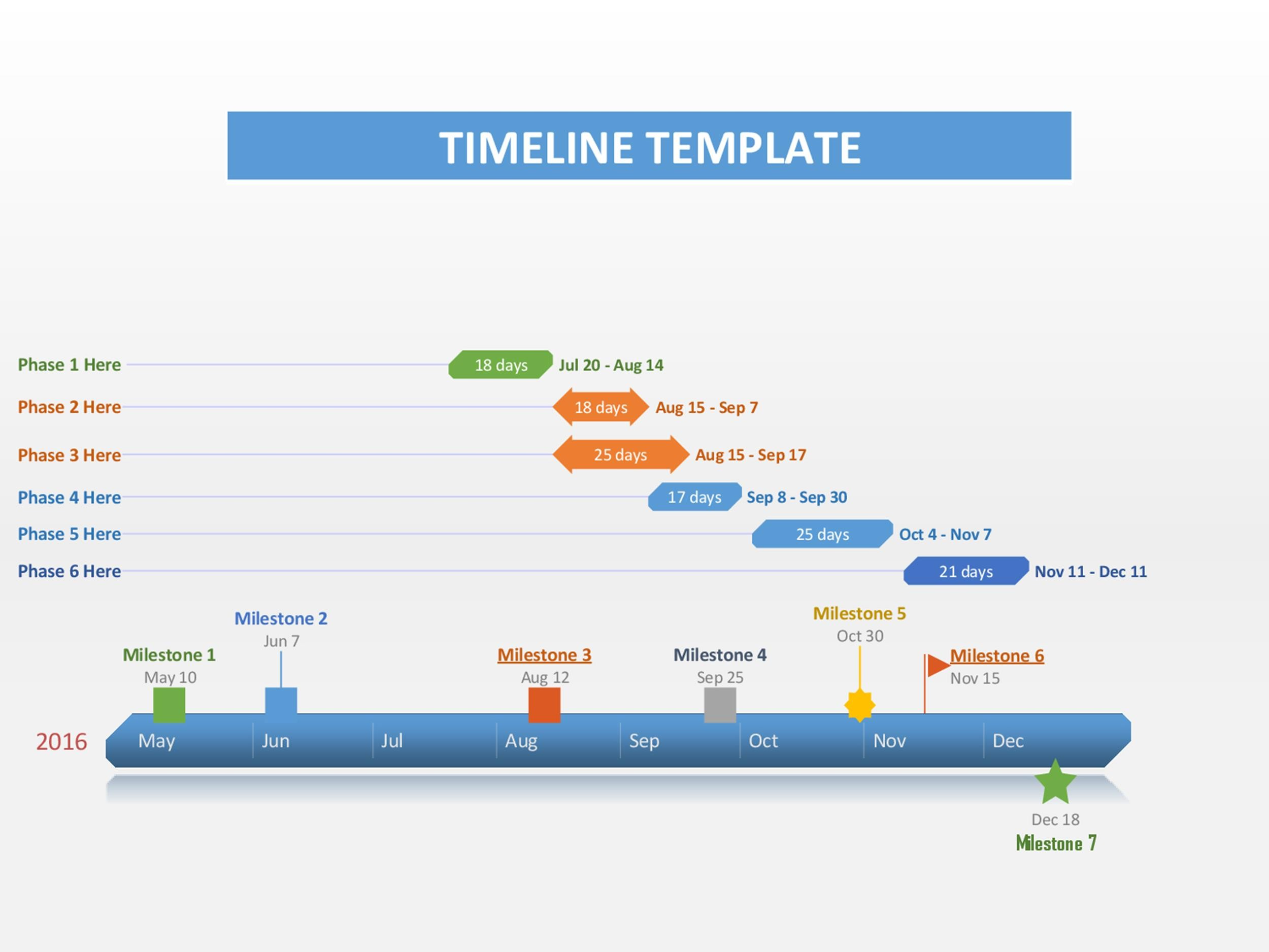 Free Timeline Template 05