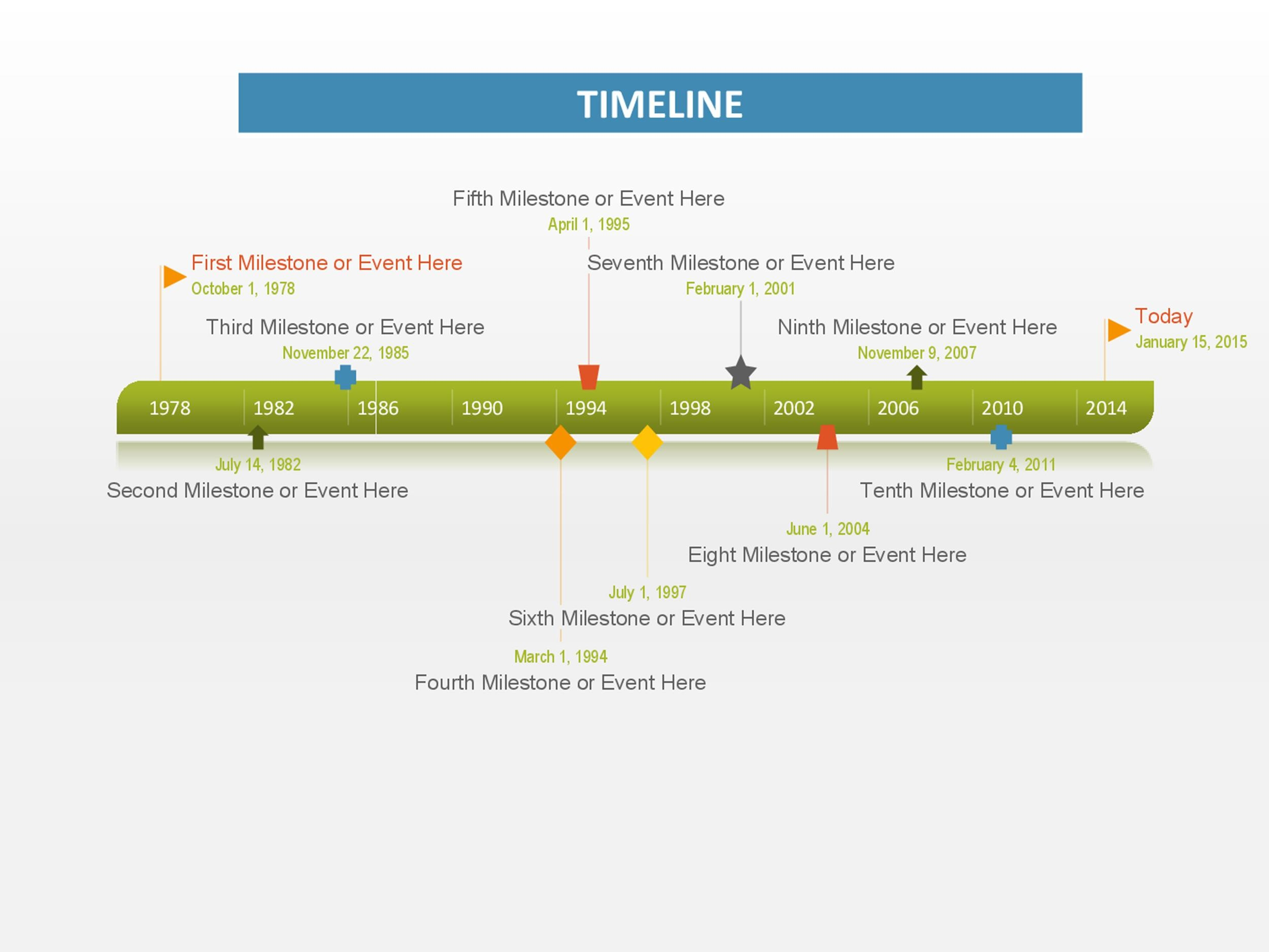 Timeline Templates Excel Power Point Word Template Lab - Milestone timeline template