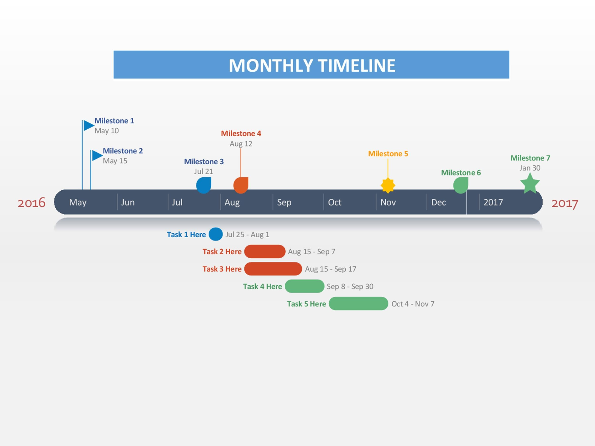 Free Timeline Template 07