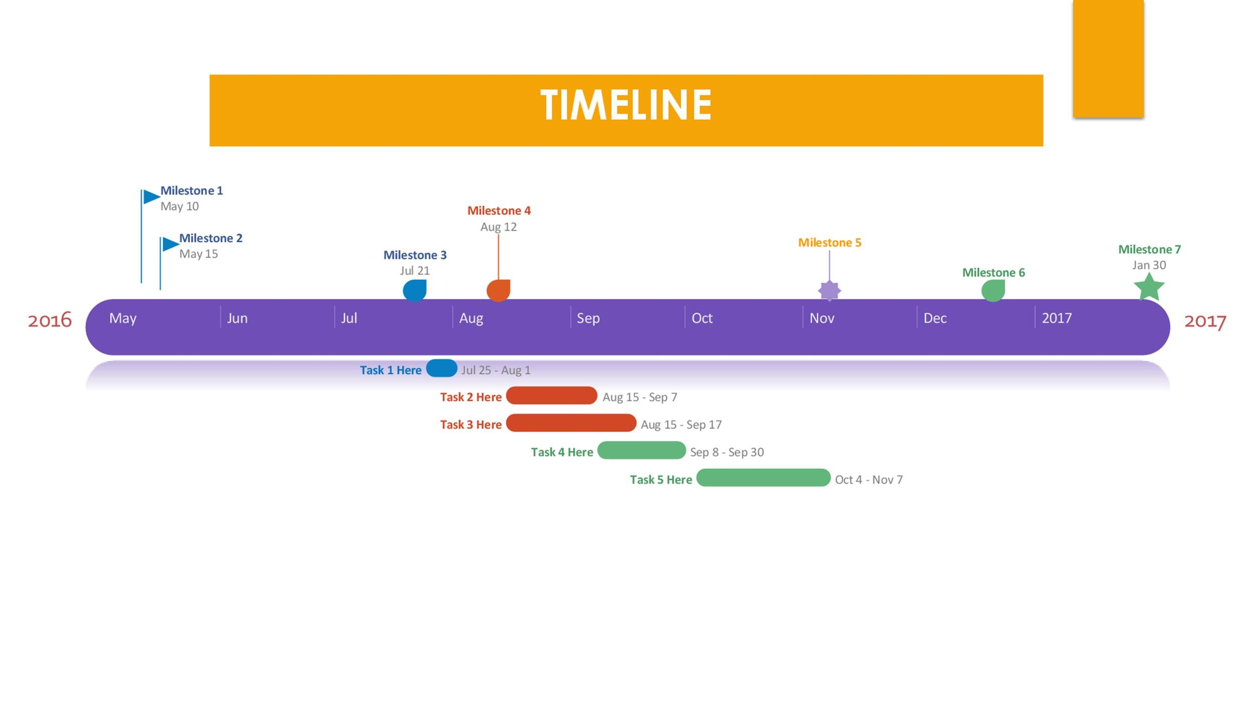 Free Timeline Template 08