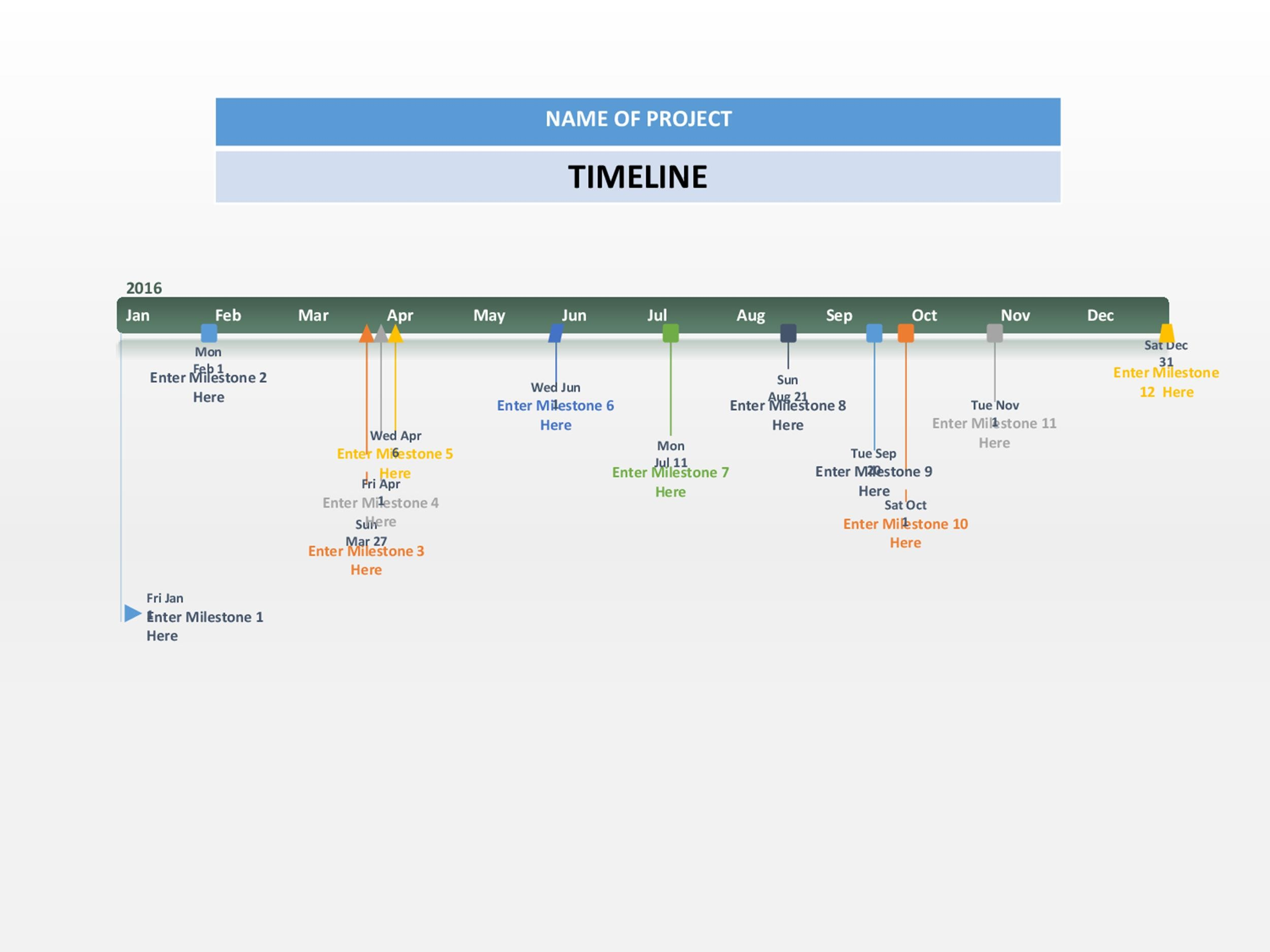 Printable Timeline Template 09  Project Management Timeline Template Word