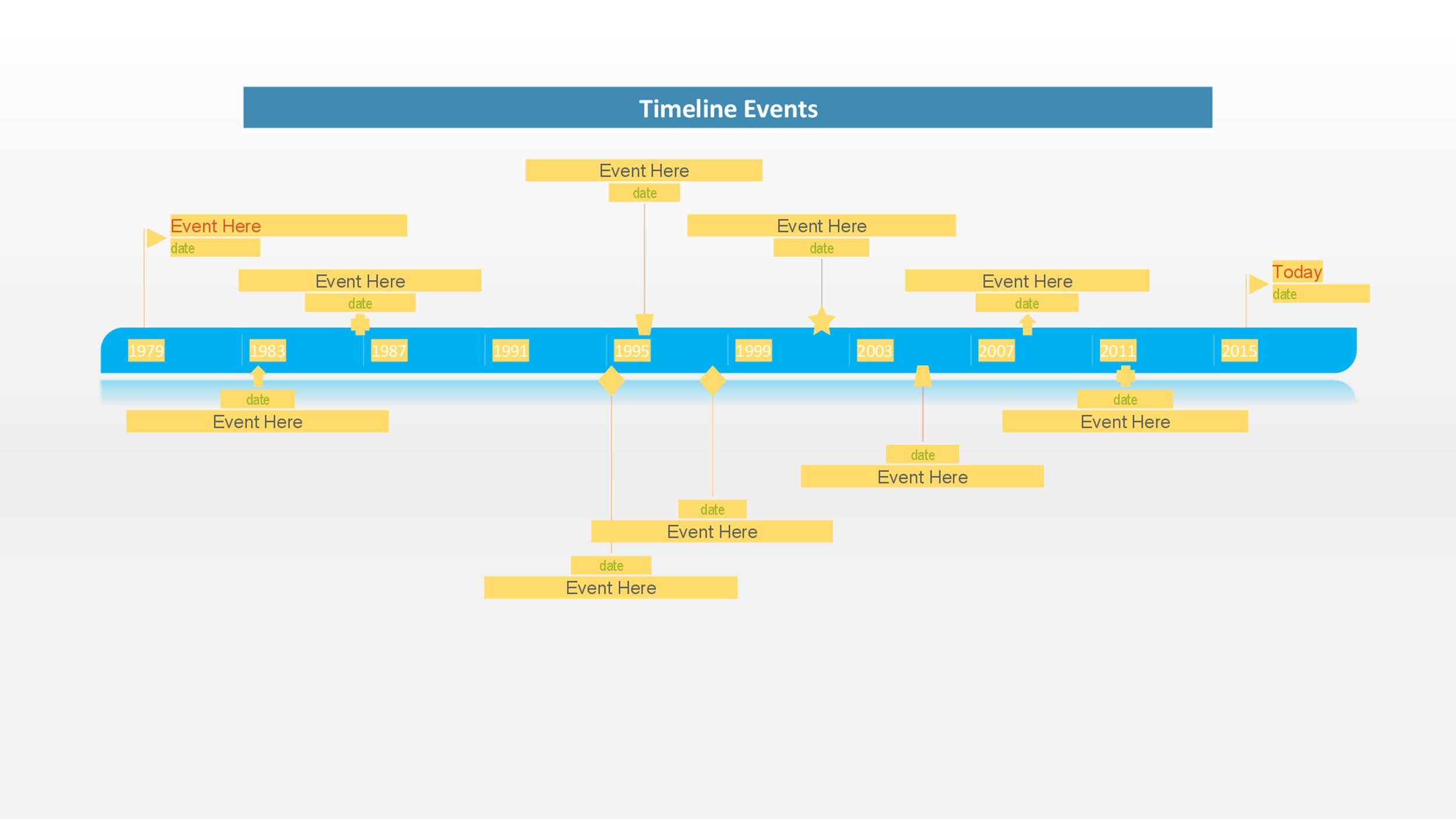 Calendar Timeline Template Here Is A More Comprehensive List Of