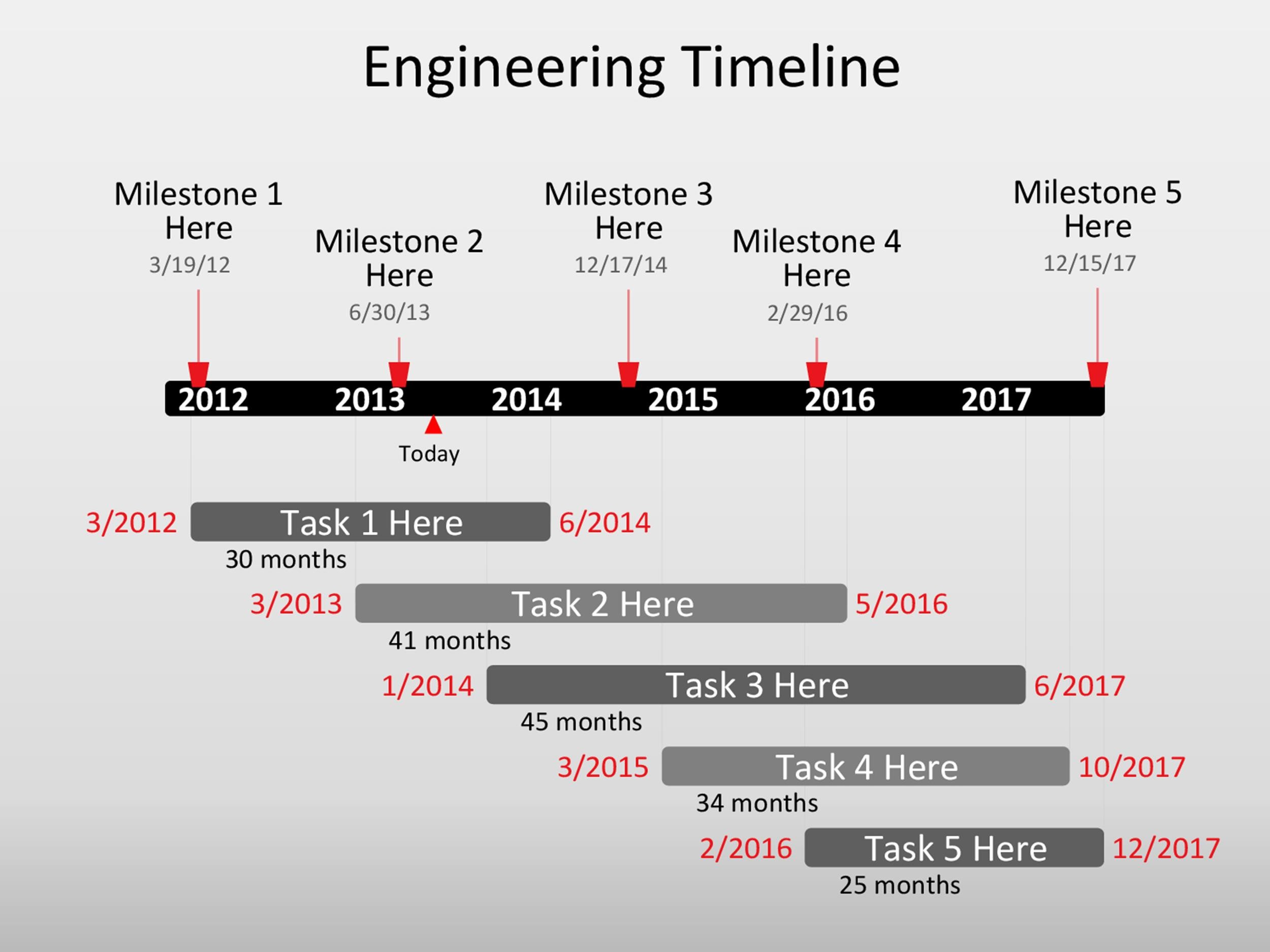 Free Timeline Template 13