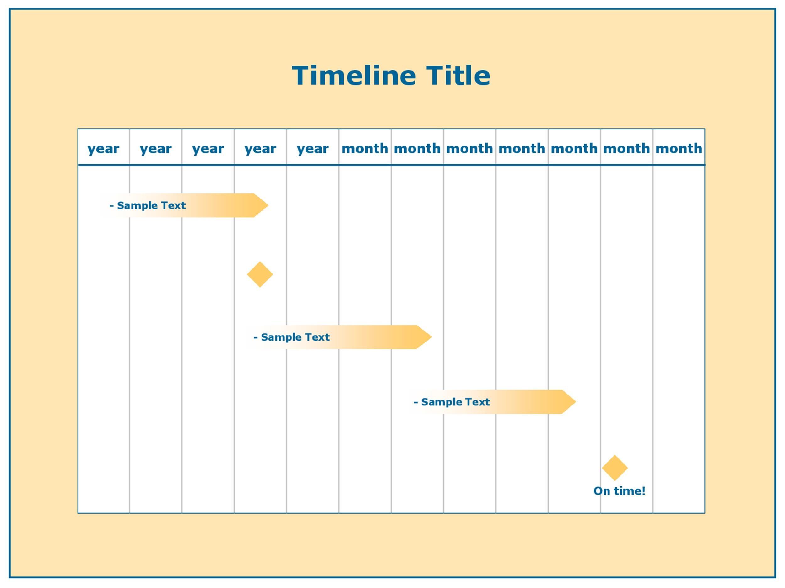 excel timeline template free - download project timeline template excel gantt chart