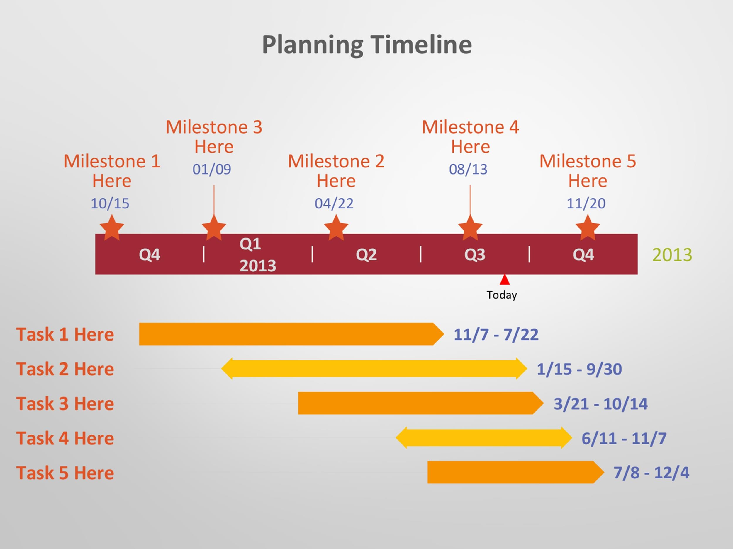 Free Timeline Template 21