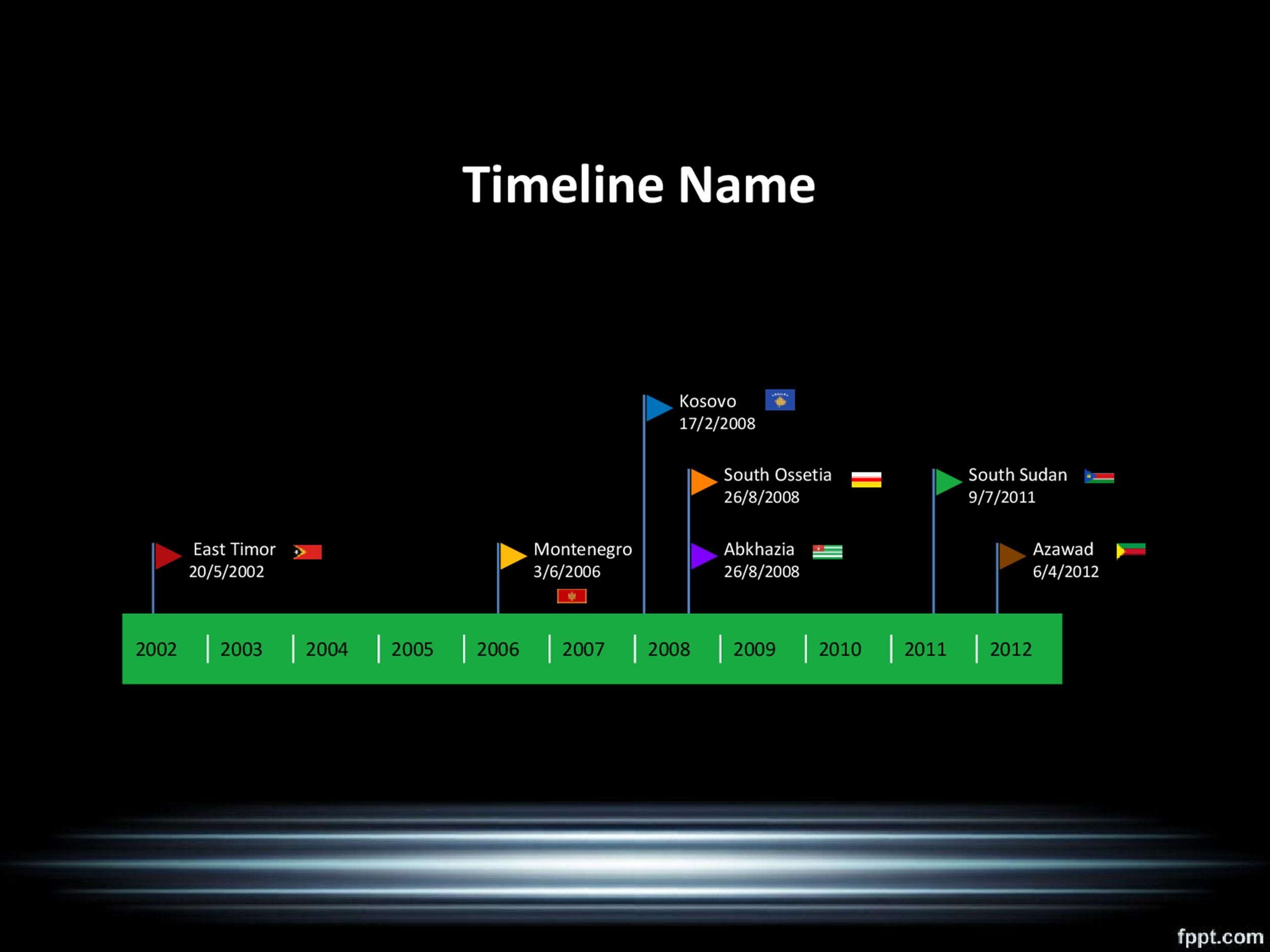 Timeline Template 25