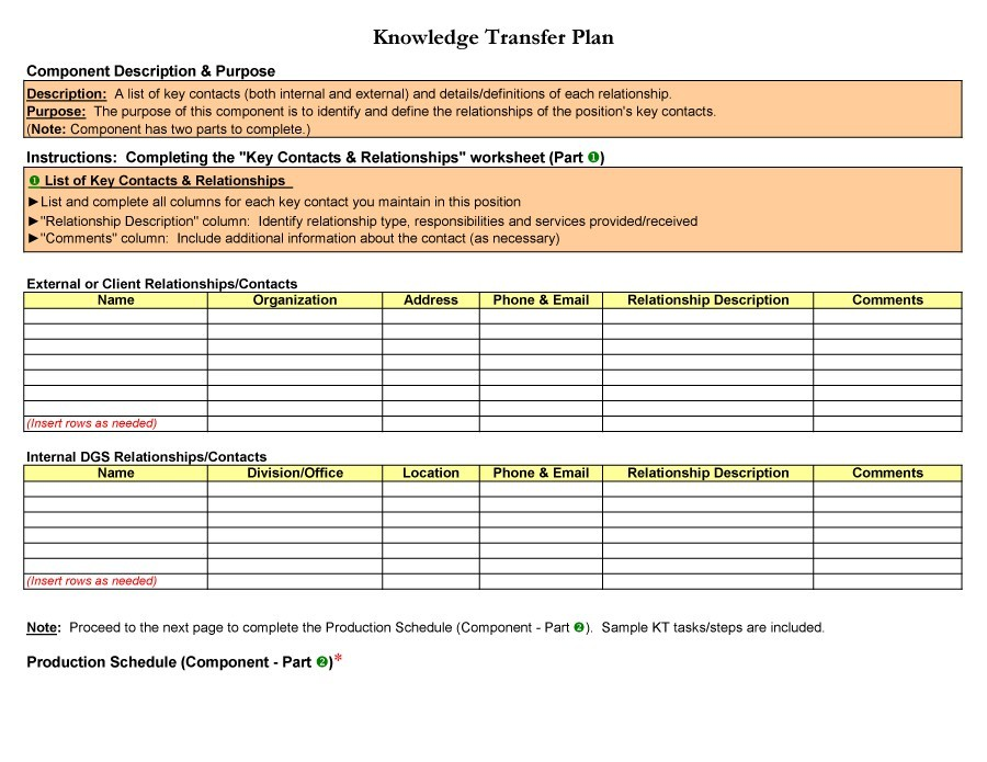 Attractive Printable Transition Plan Template 34