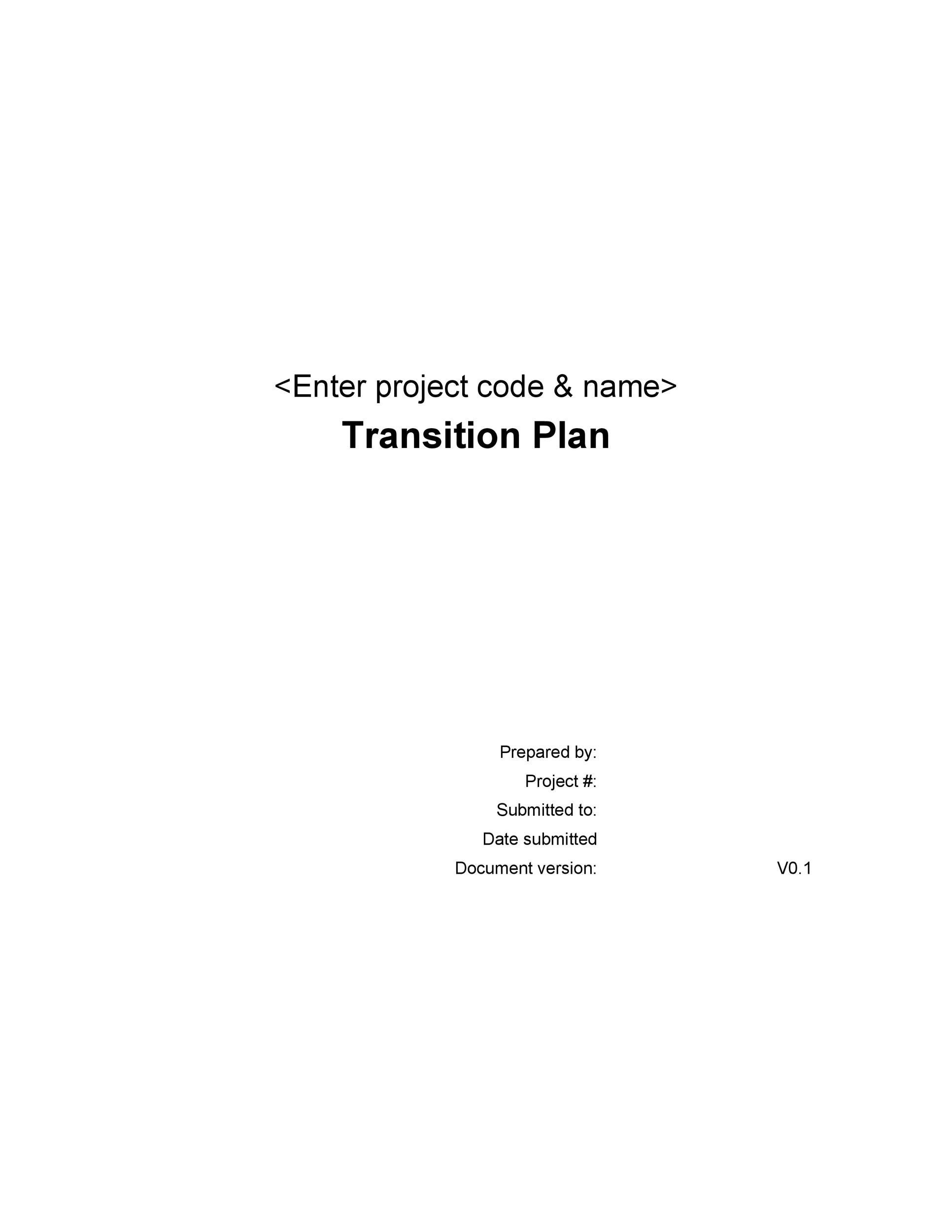 Free Transition Plan Template 38